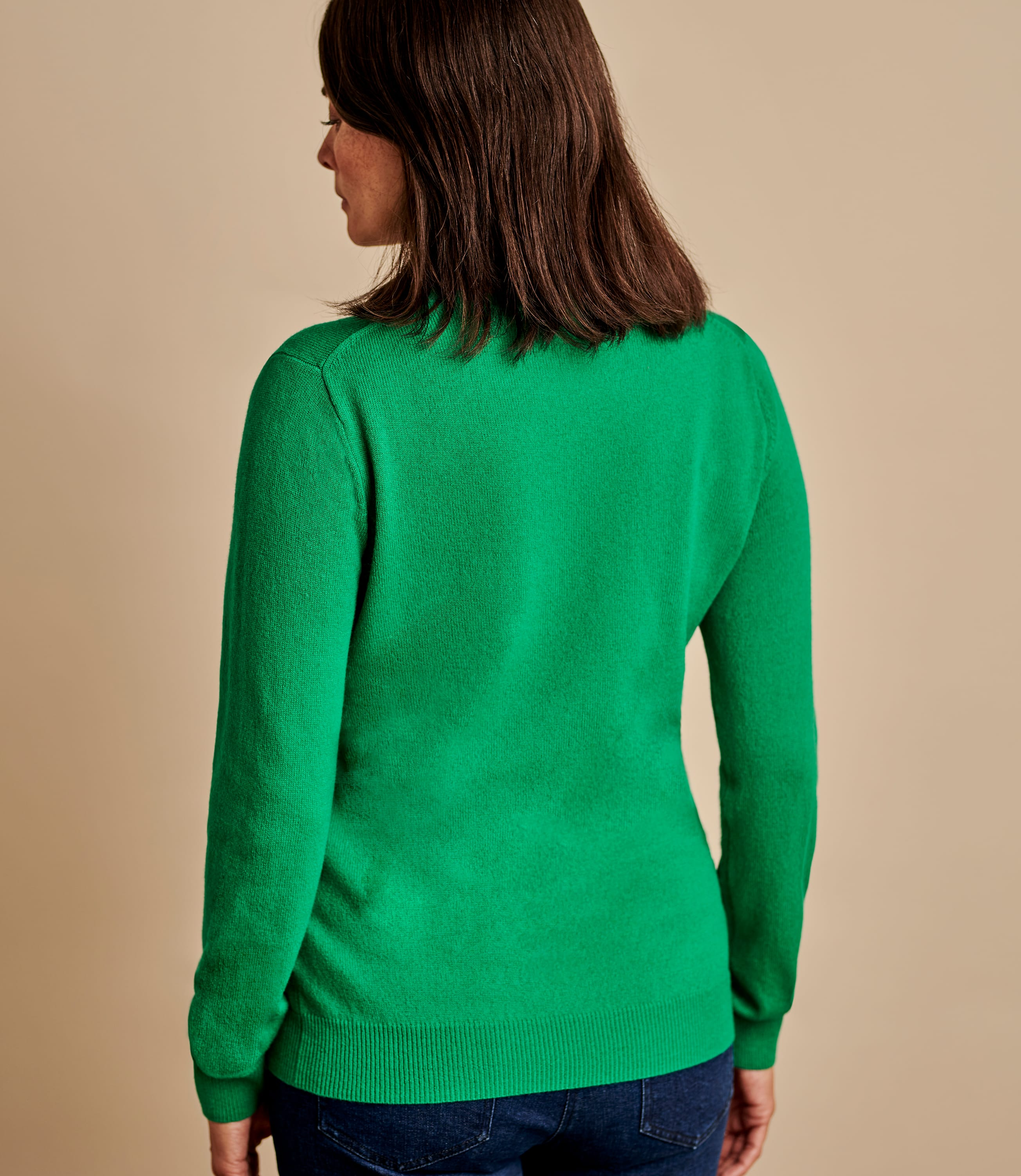 Cashmere and Merino Crew Neck Knitted Jumper