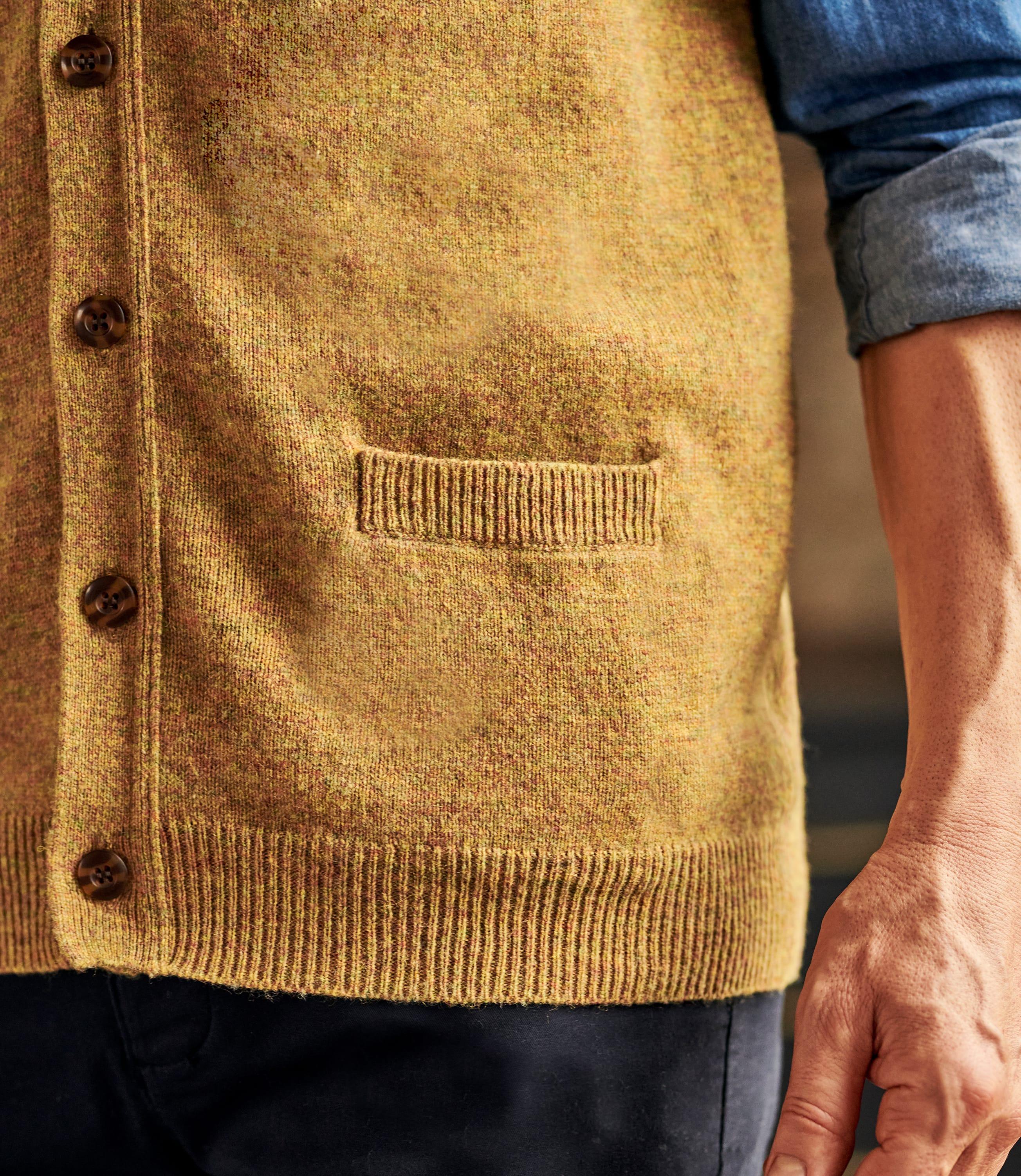 Мужской жилет из натуральной шерсти ягненка