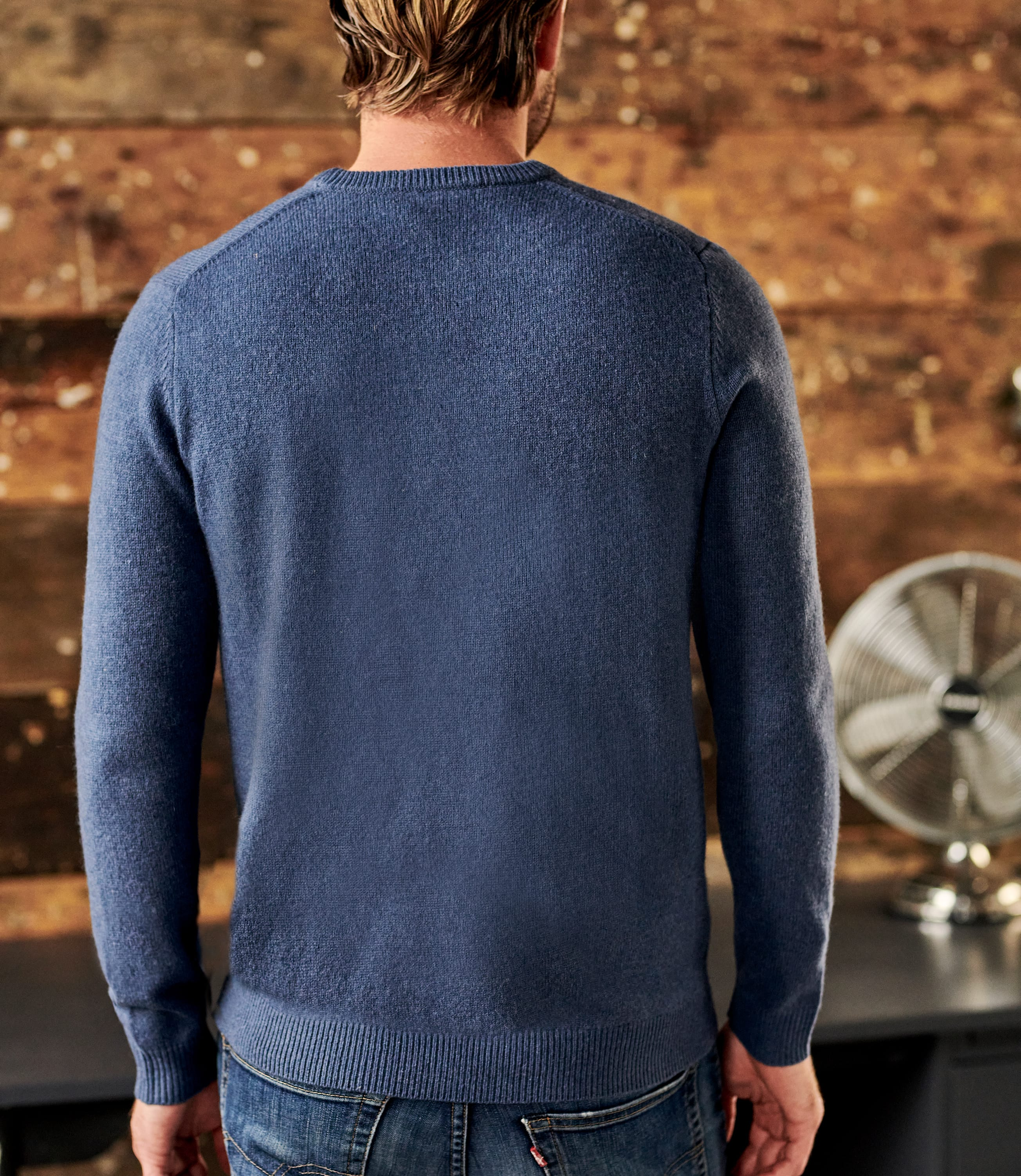 Pure Lambswool Knitted Crew Neck Jumper