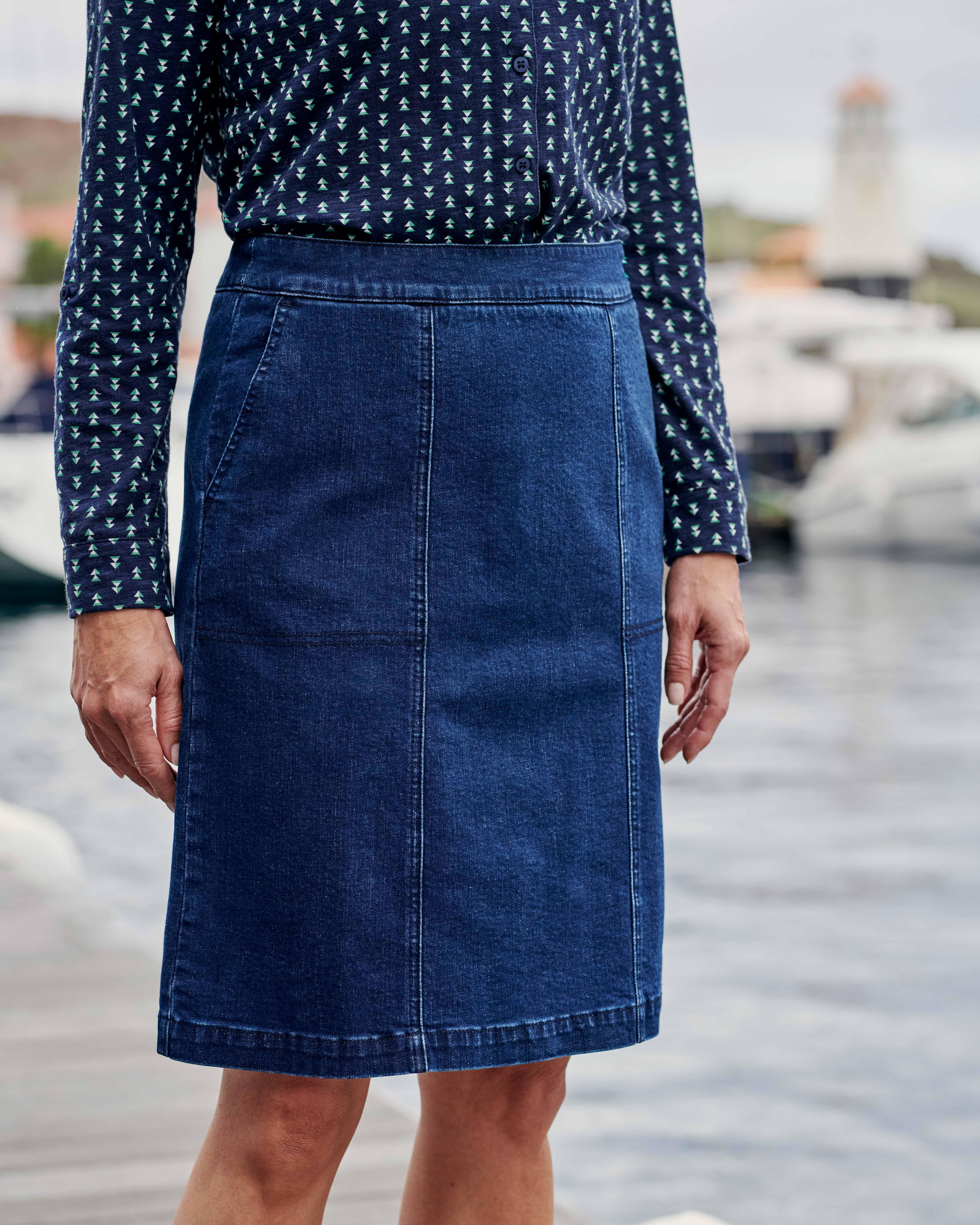 Cotton Denim Skirt