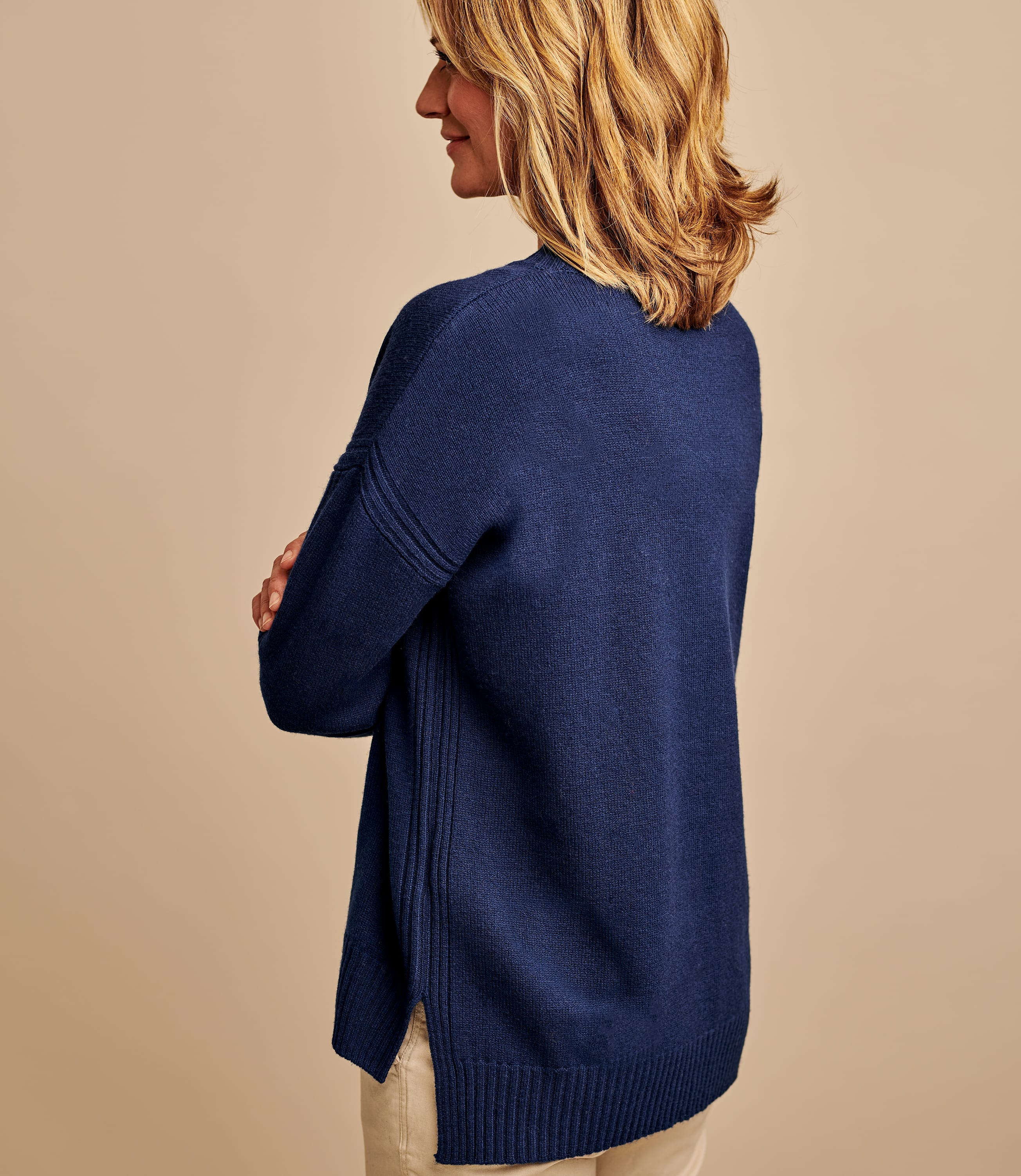 100% Merino Pointelle Detail Jumper