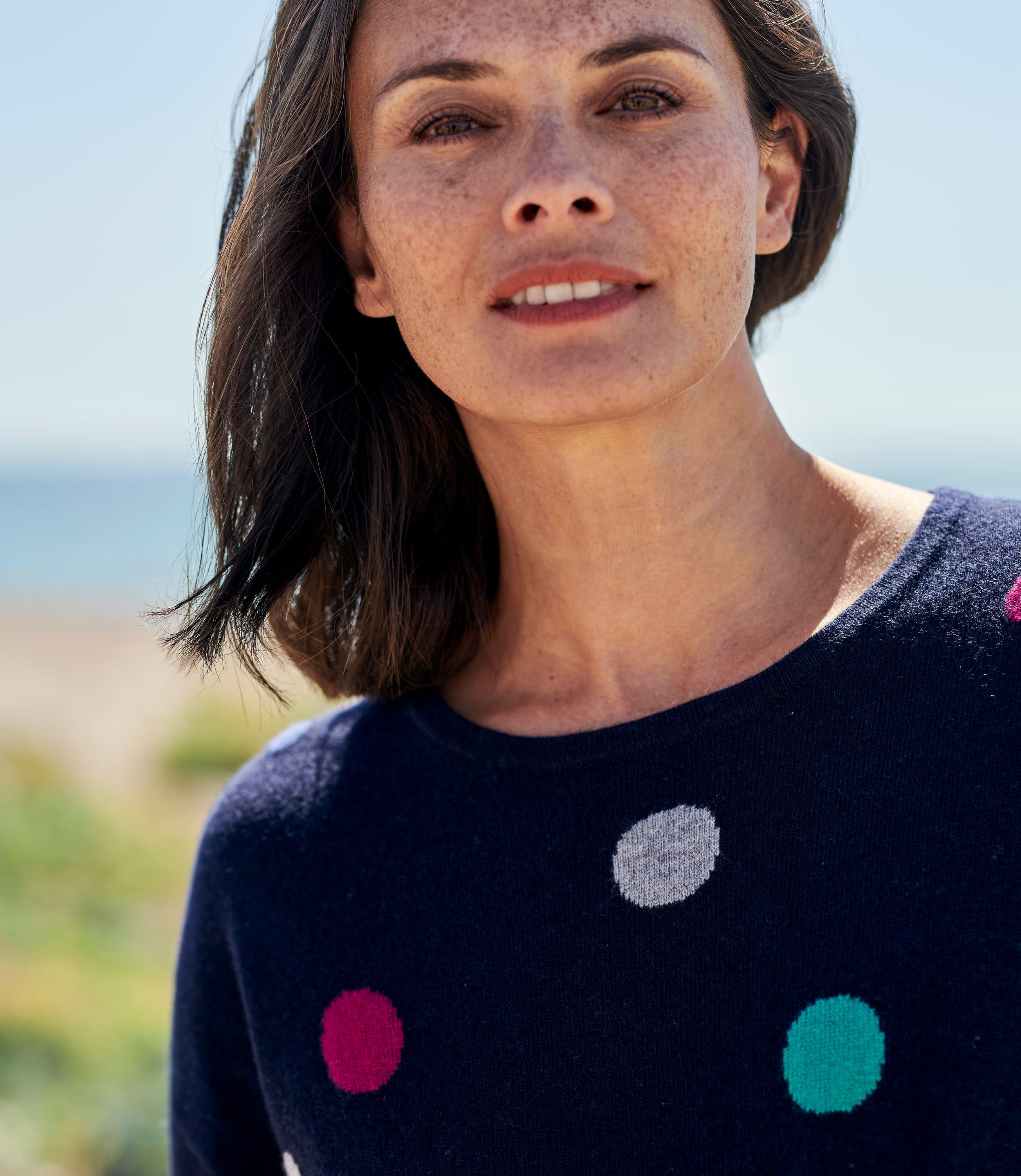 Womens Cashmere Merino Confetti Spot Jumper