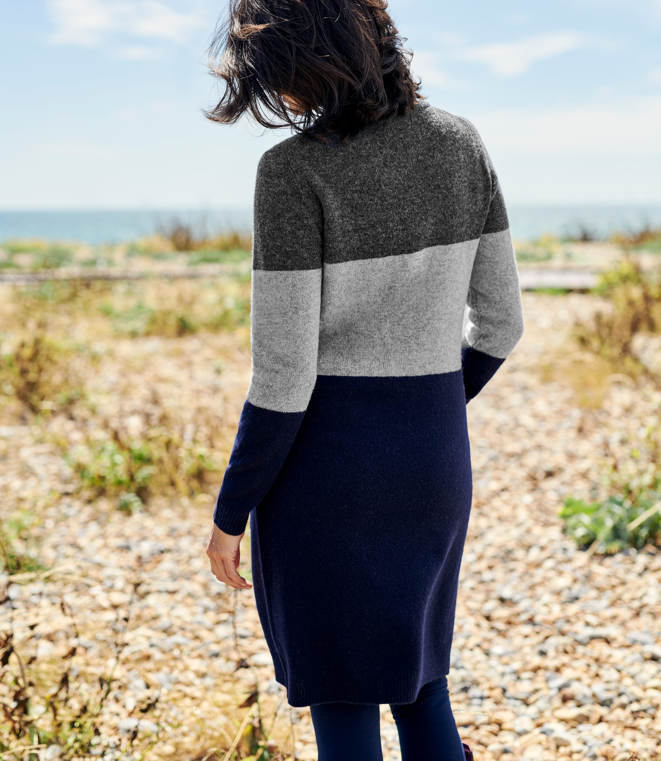 Tunique colour block - Femme - Pure Laine d'Agneau