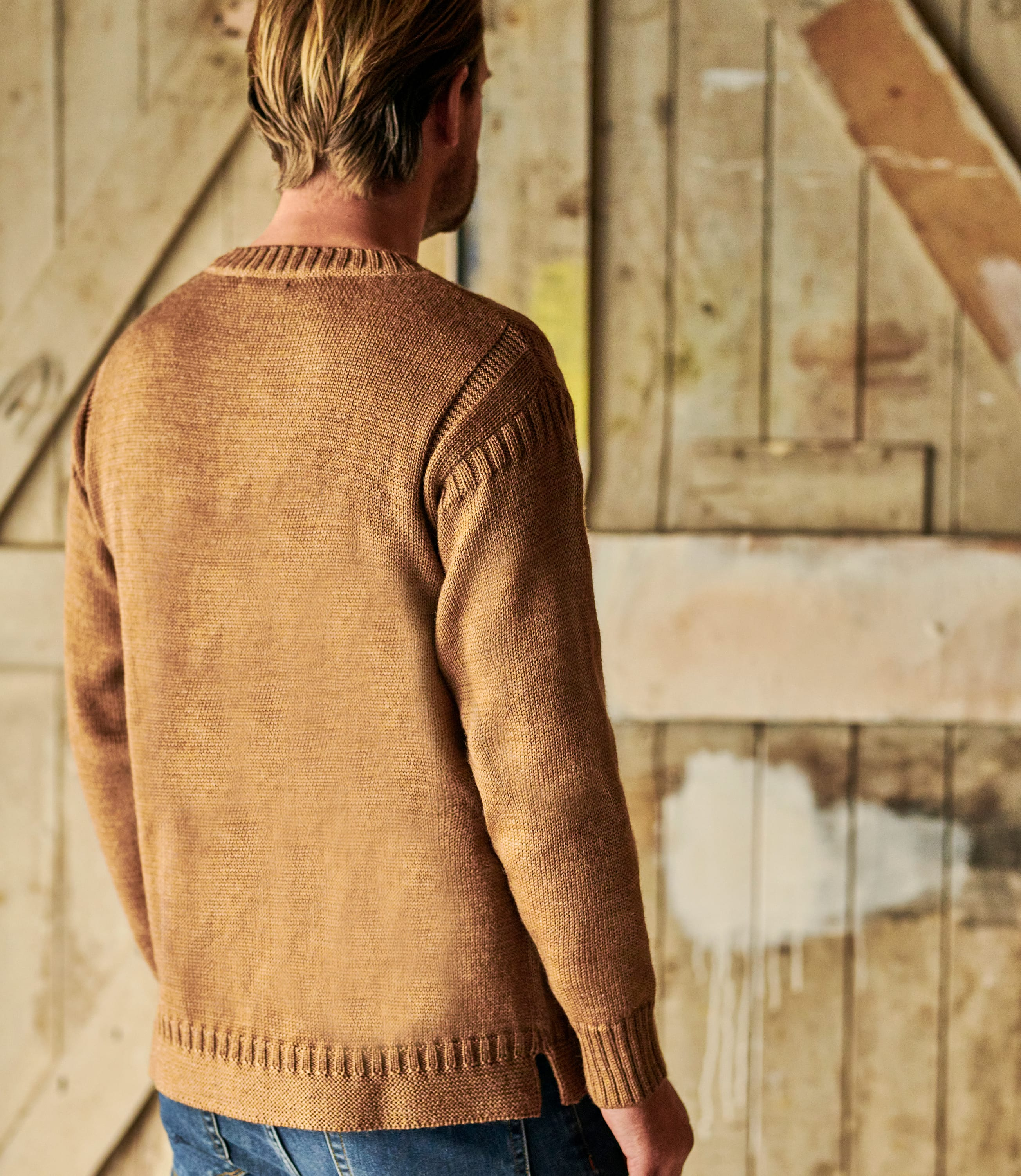 100% Pure Wool Knitted Guernsey Sweater