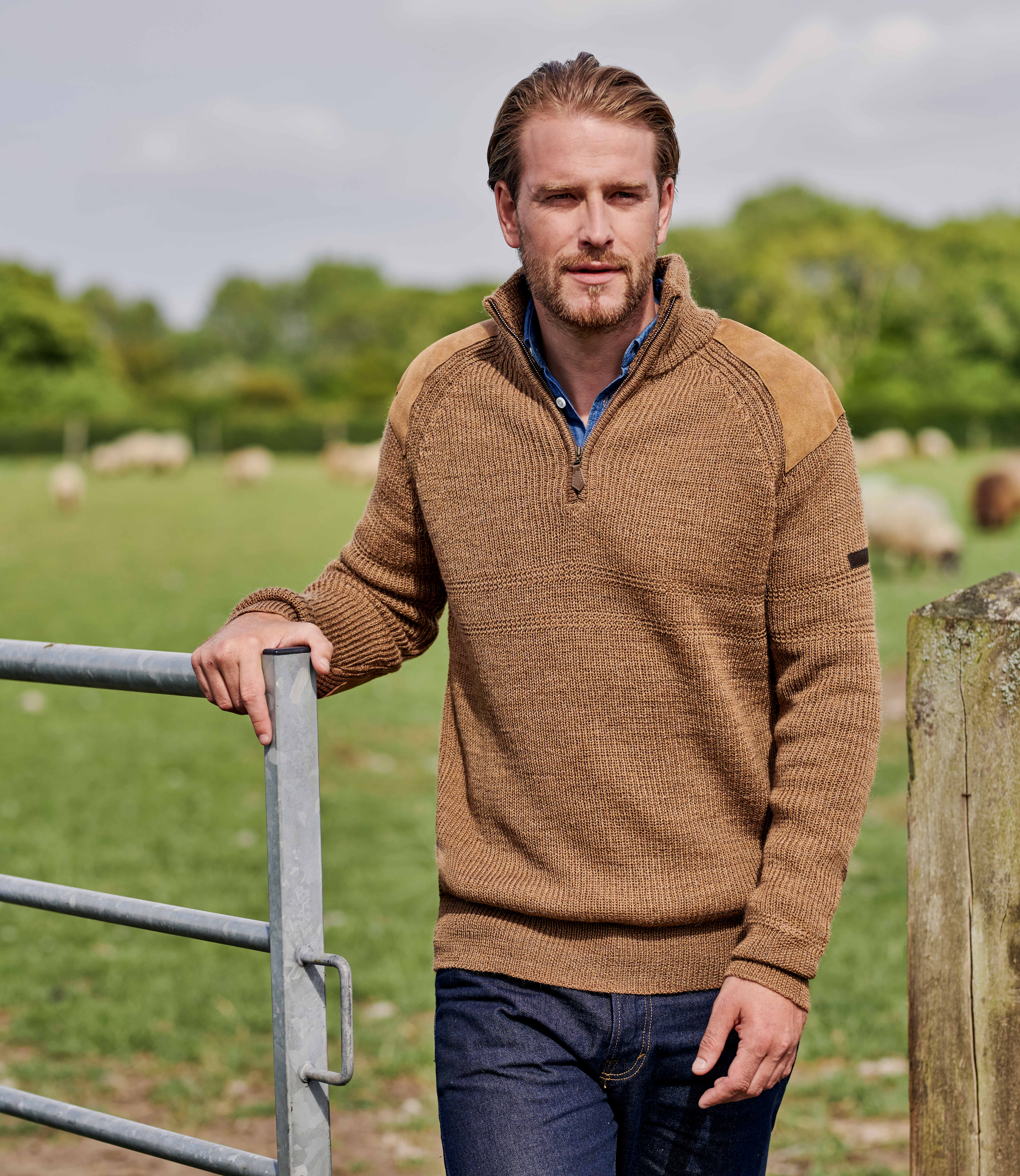 Mens Pure Wool Hill Walker Jumper