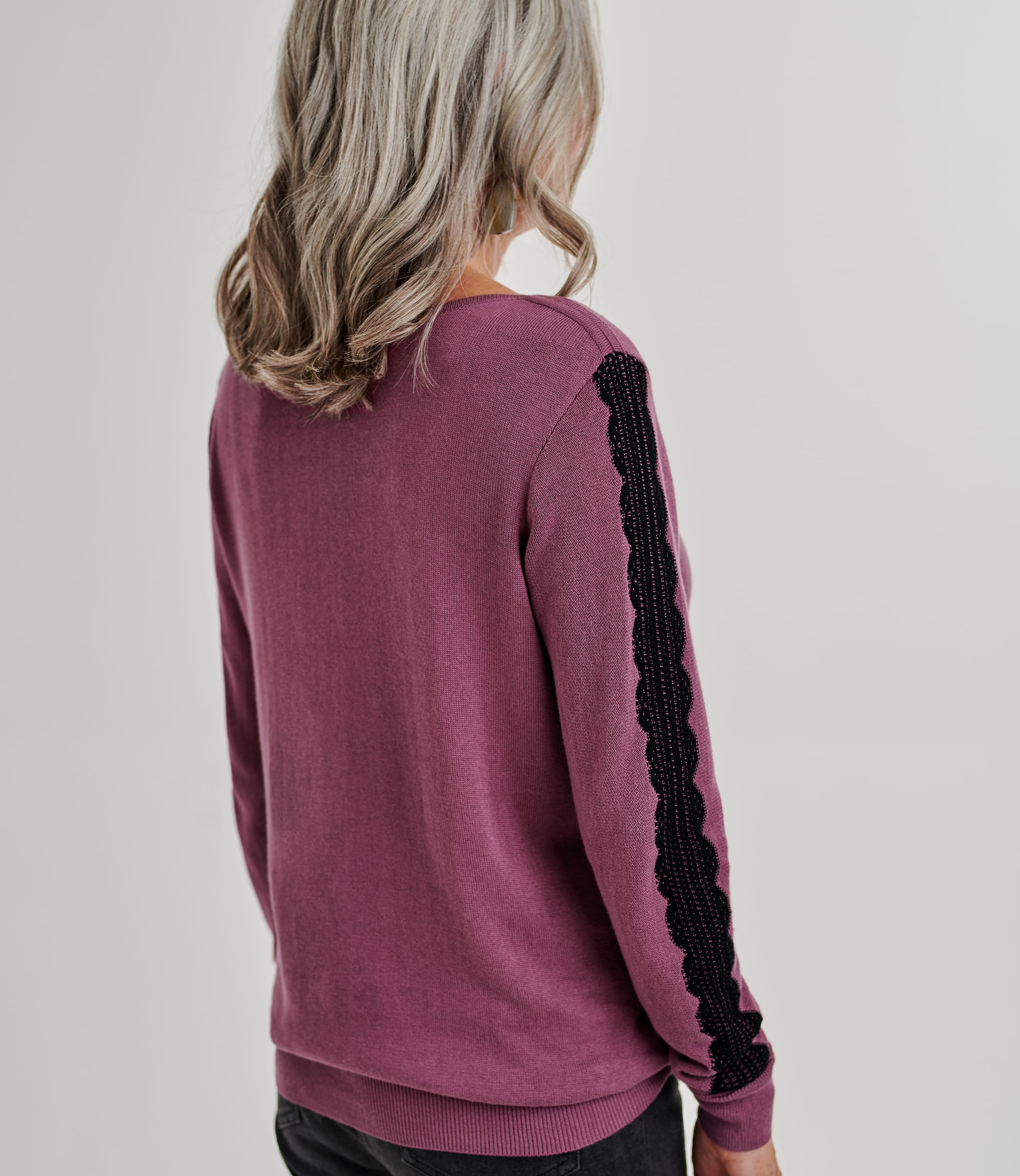 Womens Lace Sleeve Detail Jumper