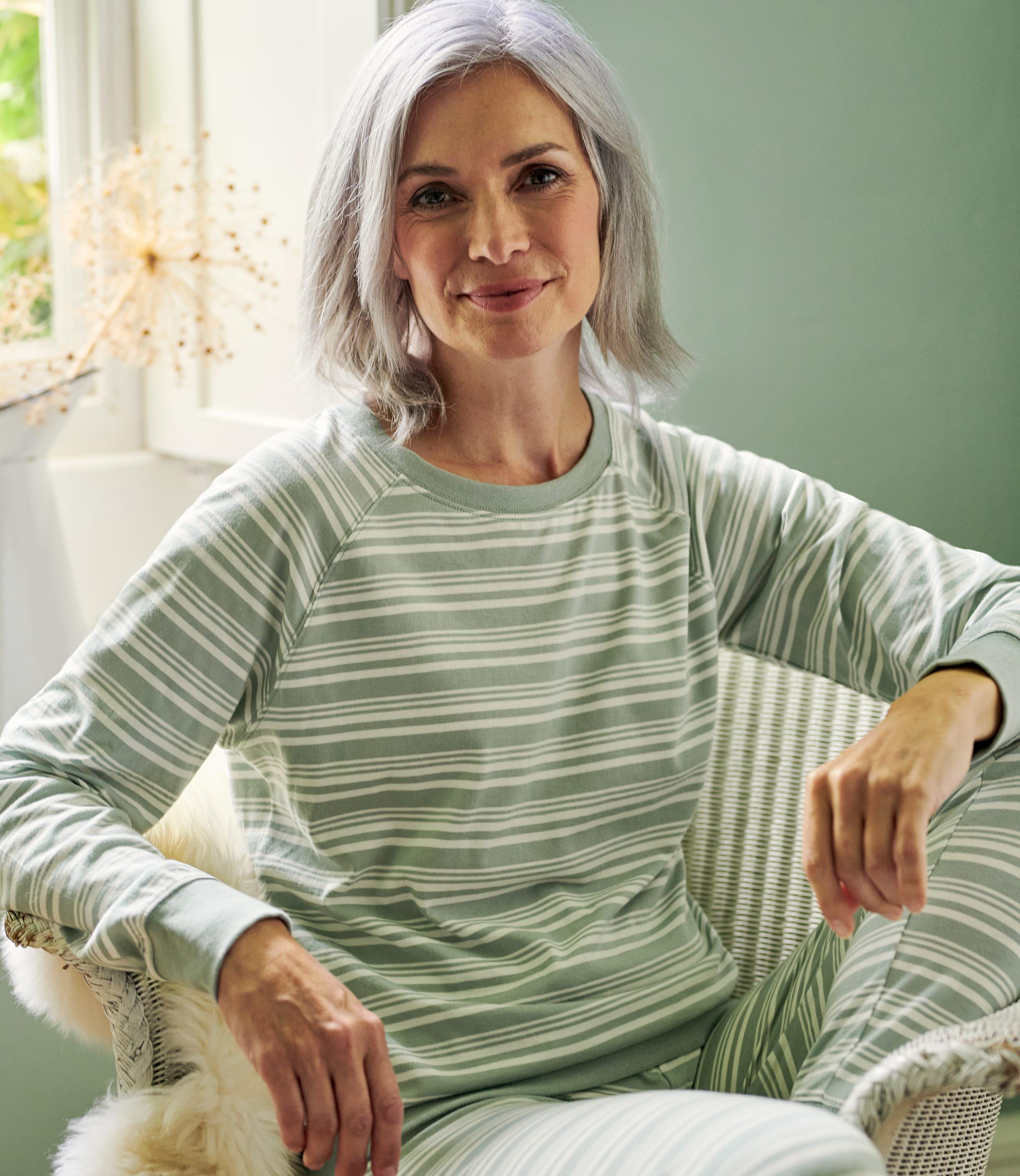 Gestreiftes Pyjamaoberteil für Damen