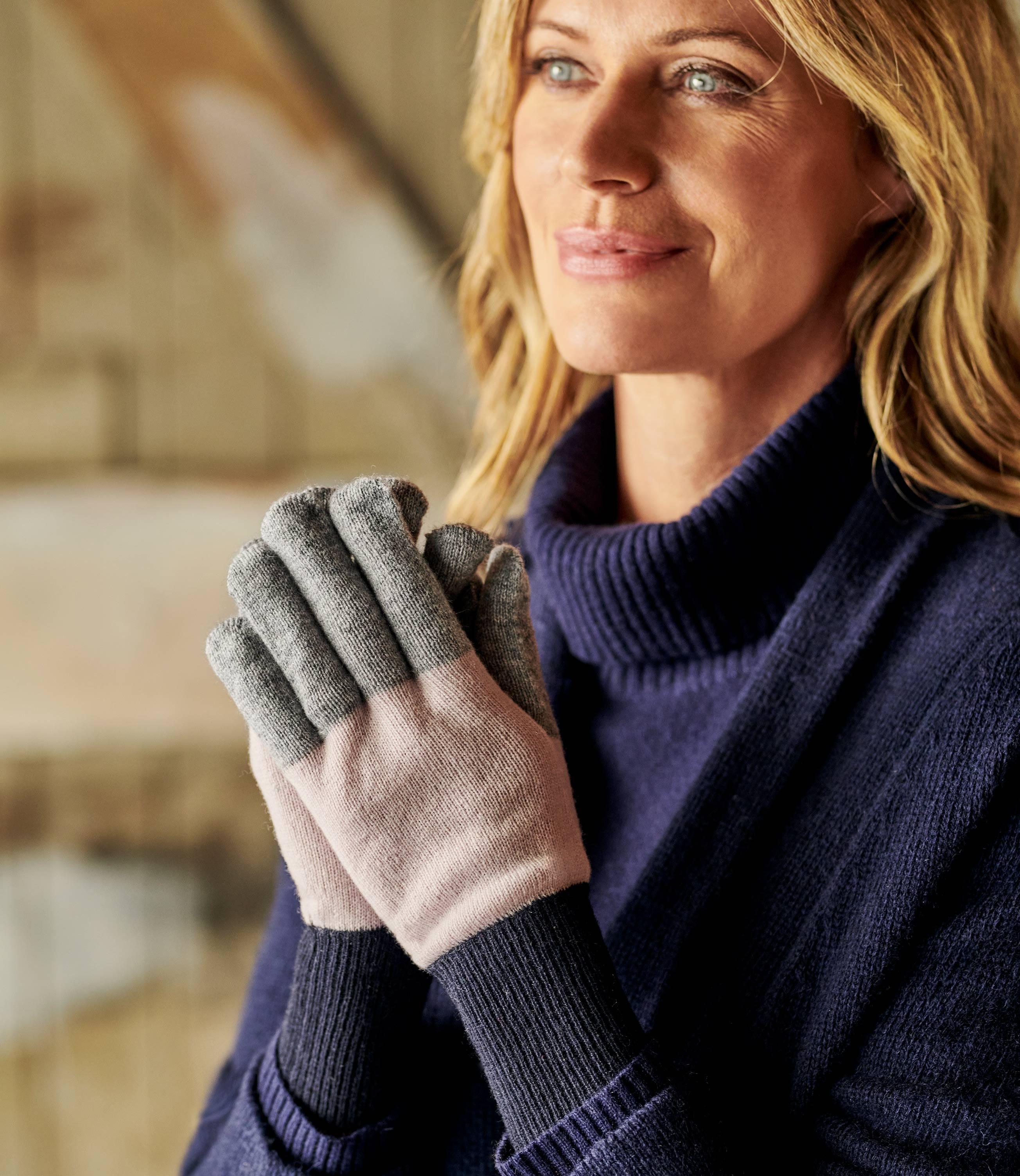 Перчатки из кашемира и шерсти мериноса