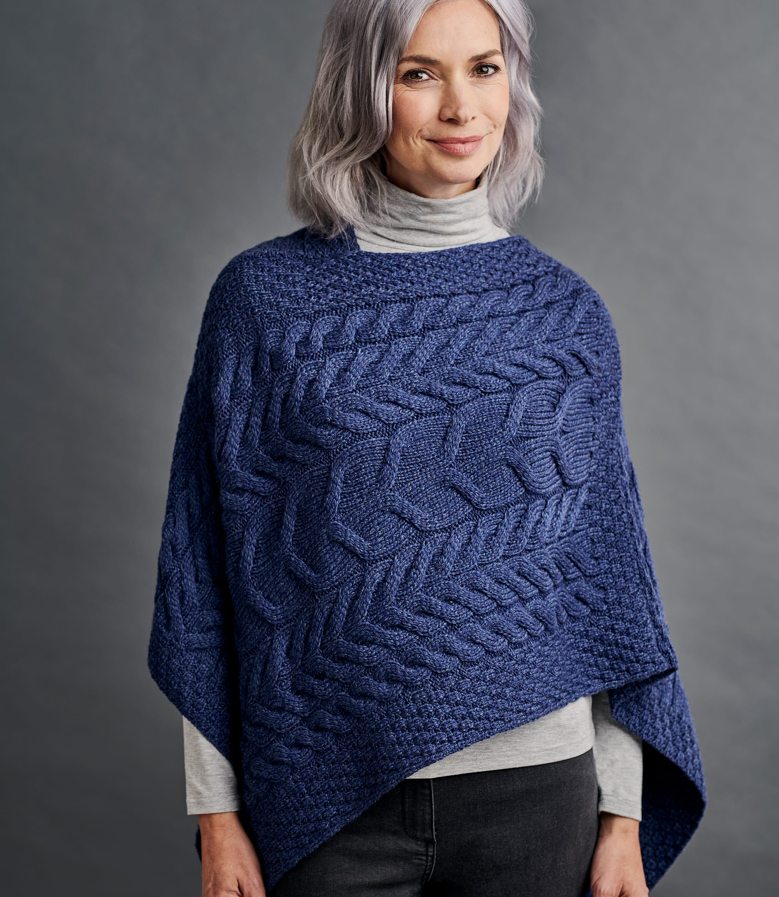 Merino Super Soft Cable Poncho