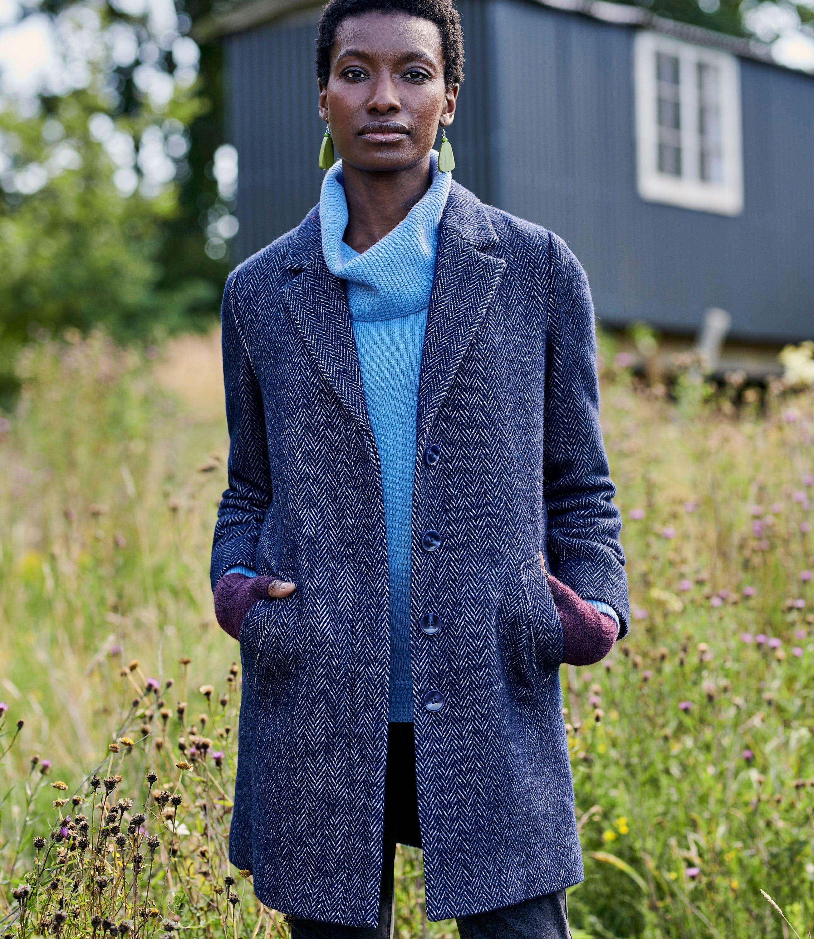 Mantel mit Reverskragen für Damen