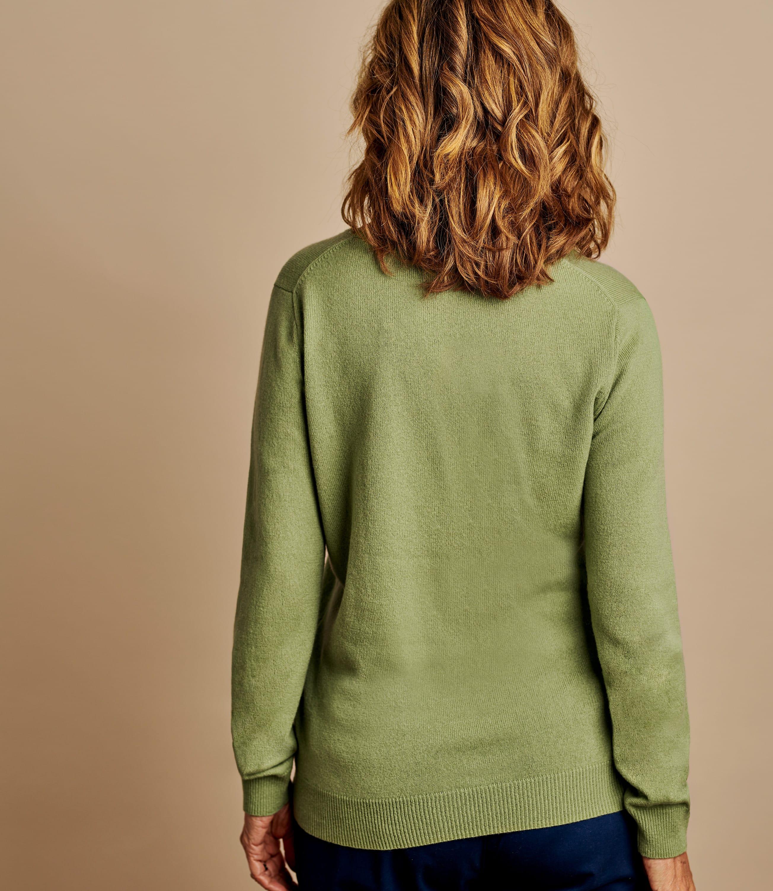 Pullover mit V-Ausschnitt aus Merinowolle und Kaschmir für Damen