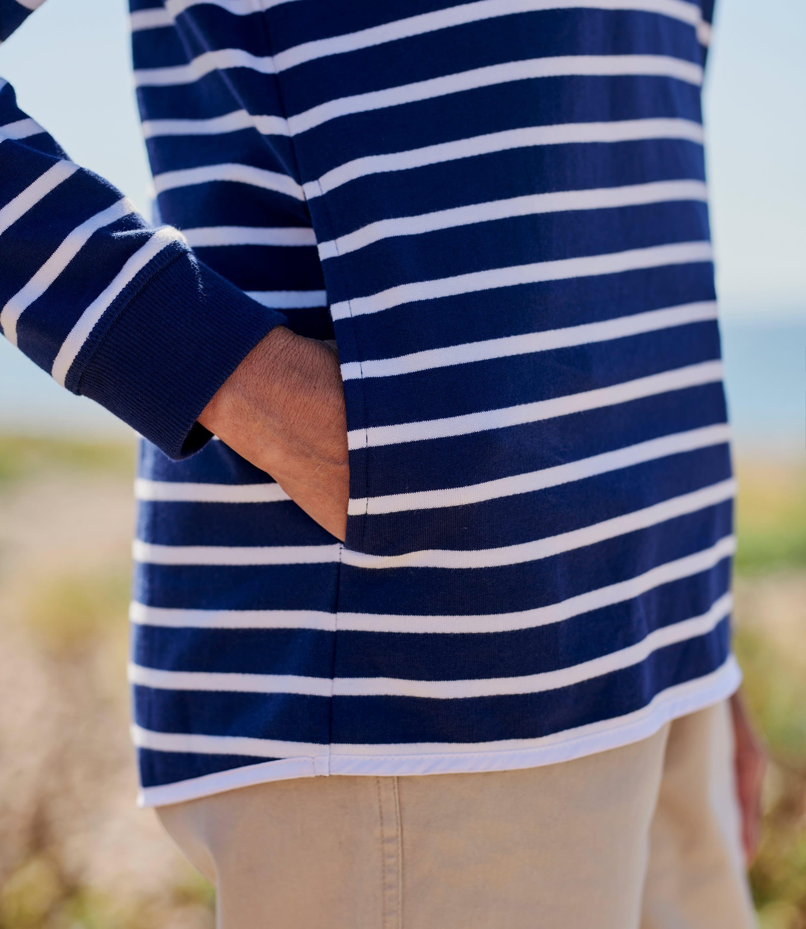 Cotton Half Zip Sweatshirt