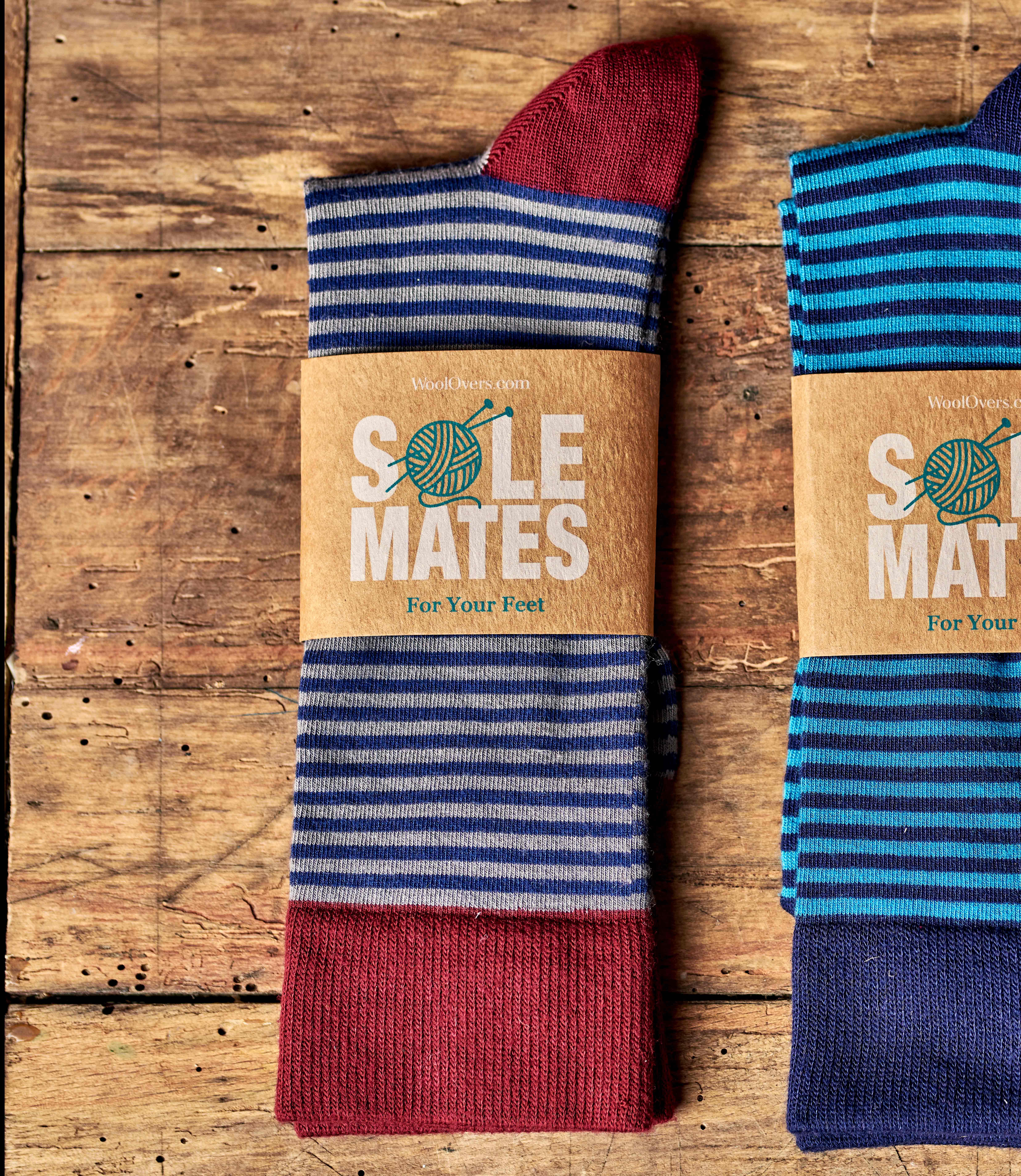 Chaussettes rayées - Homme - Bambou mélangé