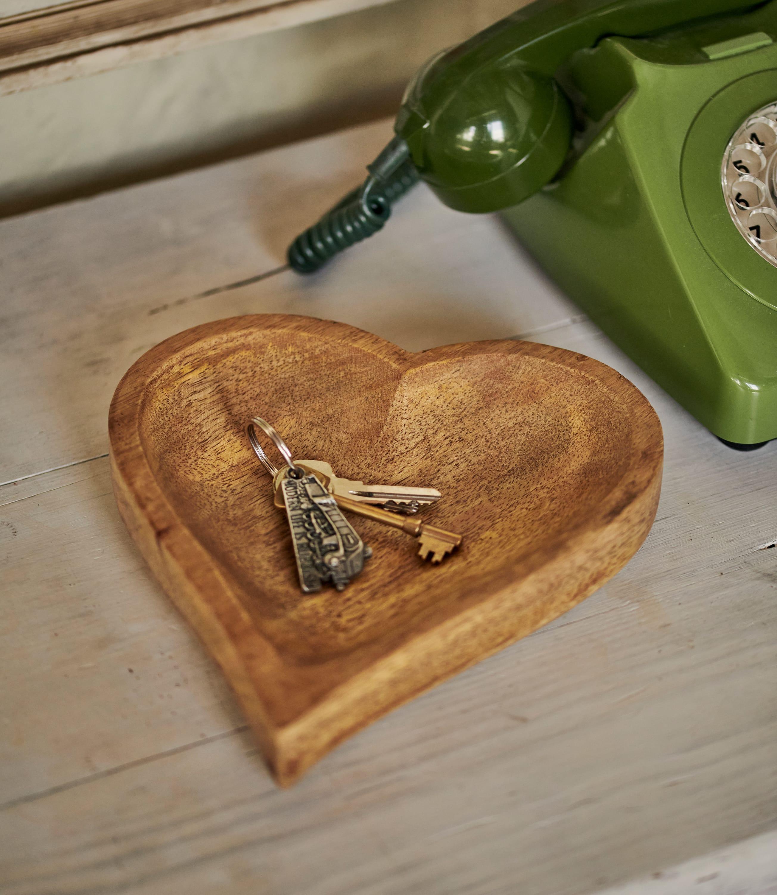 Lot de 2 coupelles motif coeur - Maison - Bois