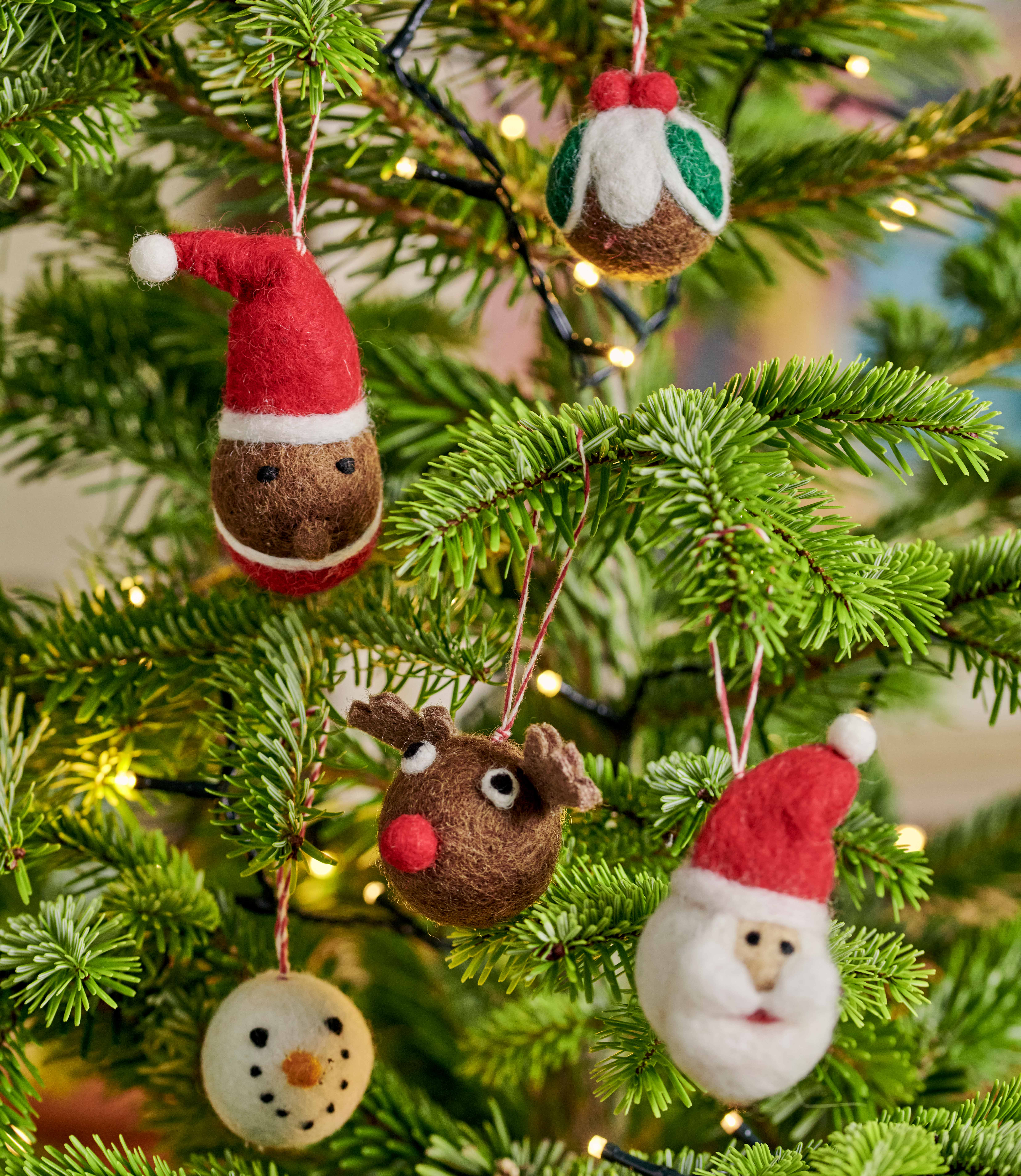 Traditional Five Pack Christmas Decorations