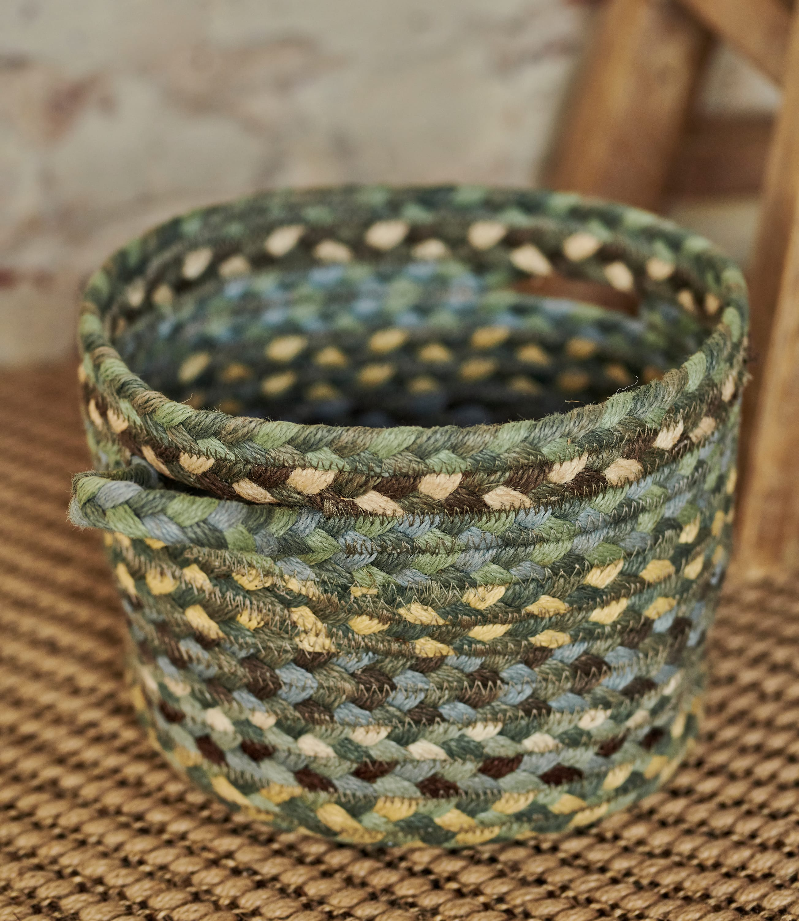Organic Jute Multi Col Small Basket