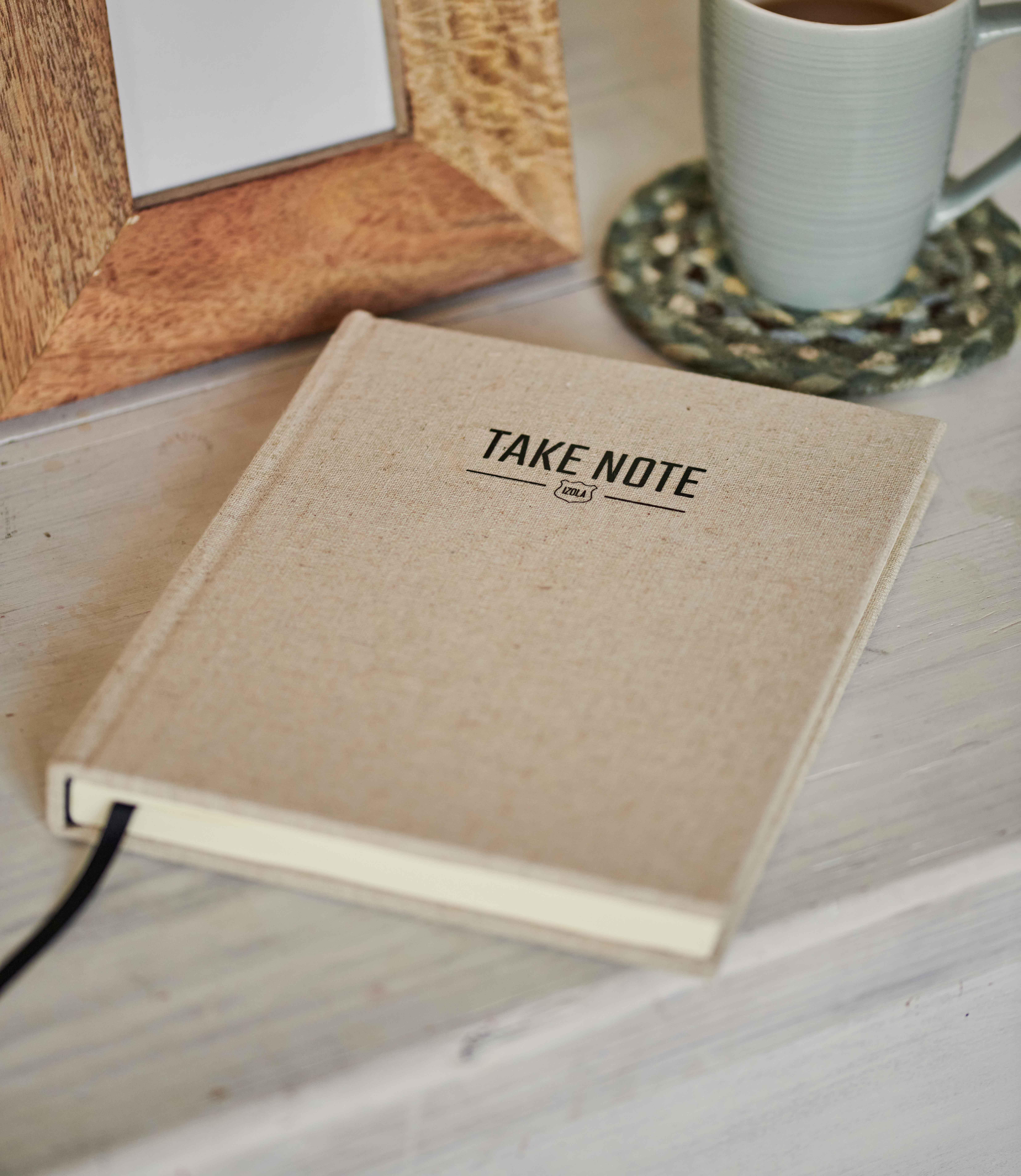 Notizbuch mit Leinenumschlag
