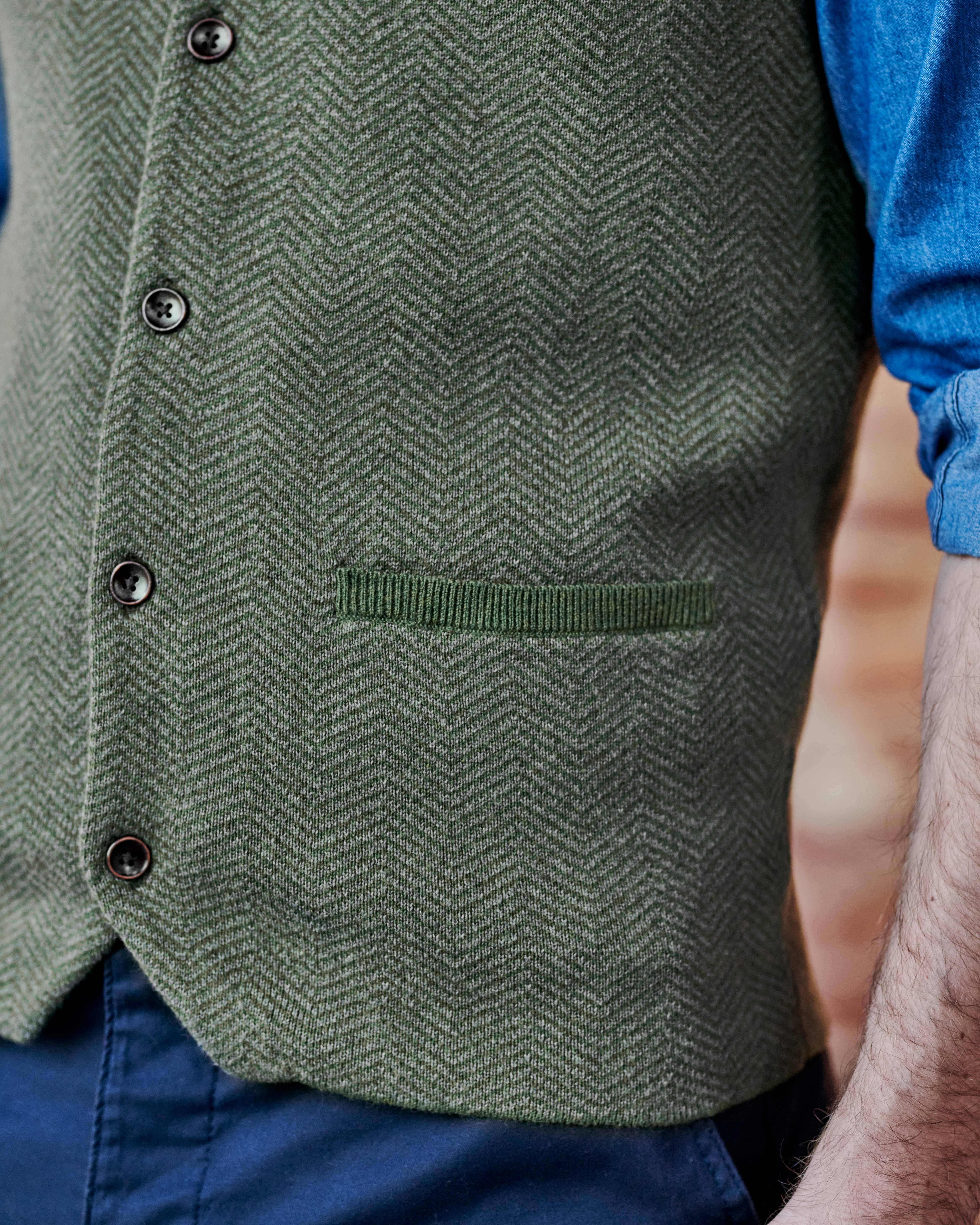 Weste aus Bio-Baumwolle & Kaschmir für Herren
