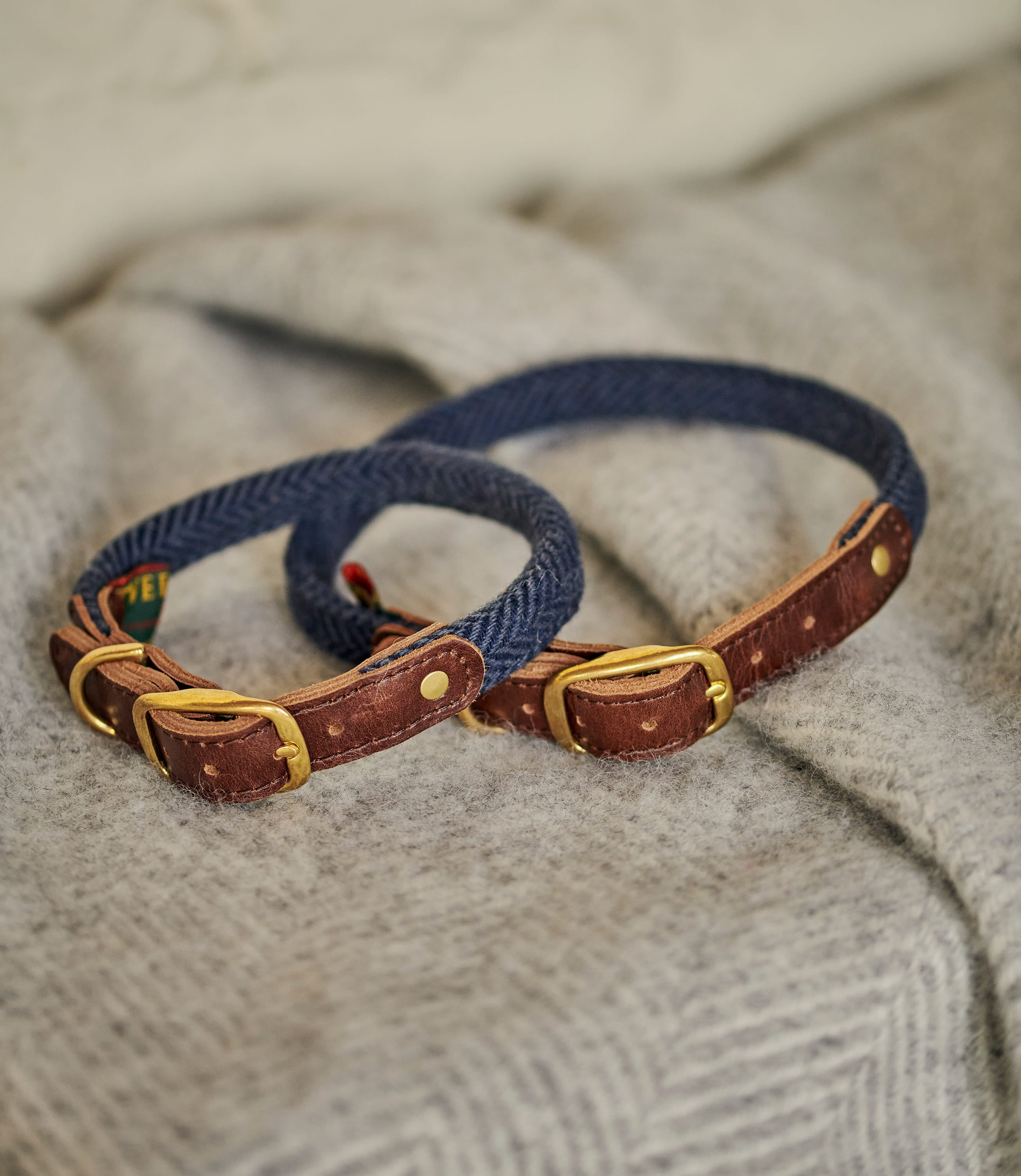 Herringbone Dog Collar