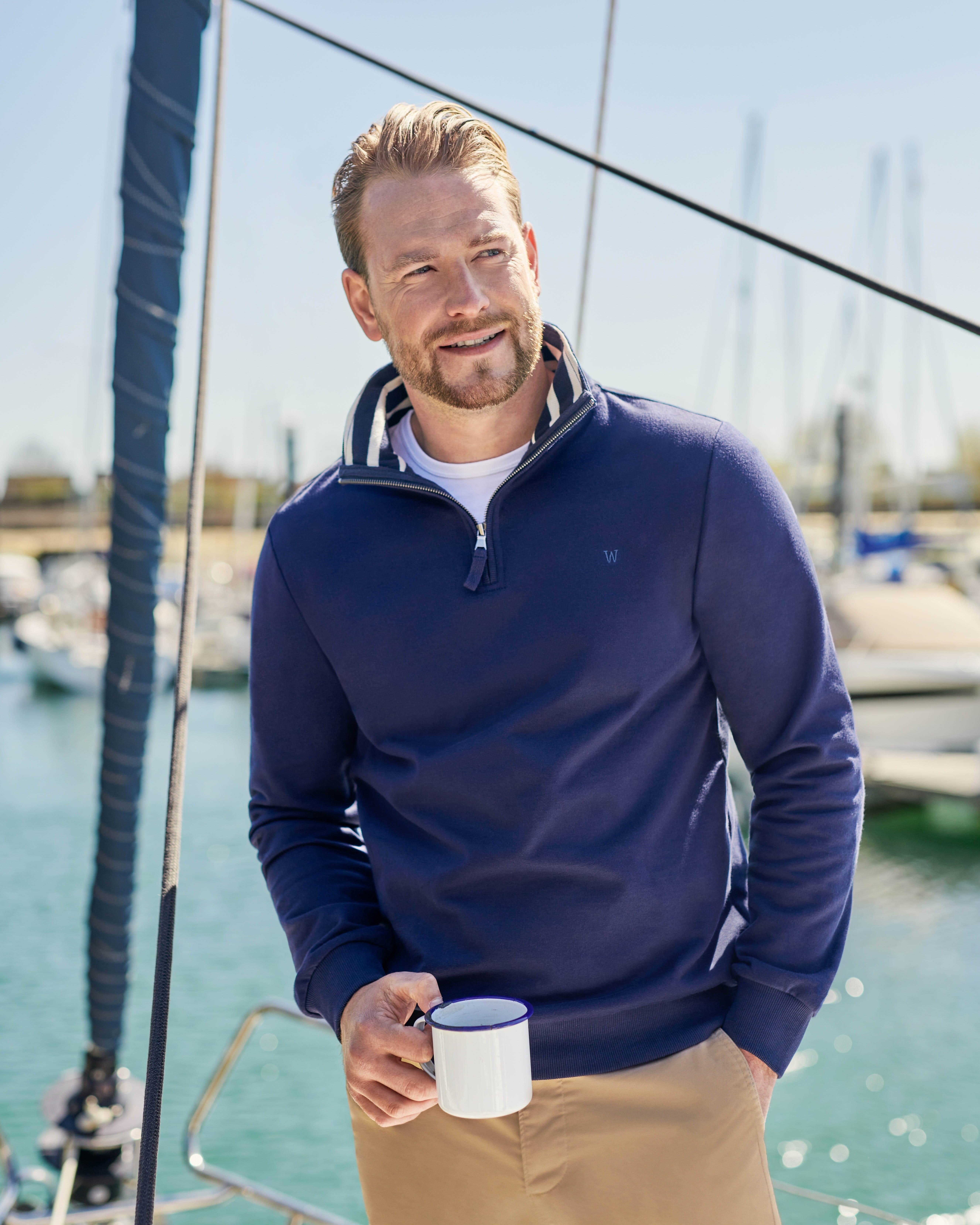Mens Organic Cotton Half Zip Sweater