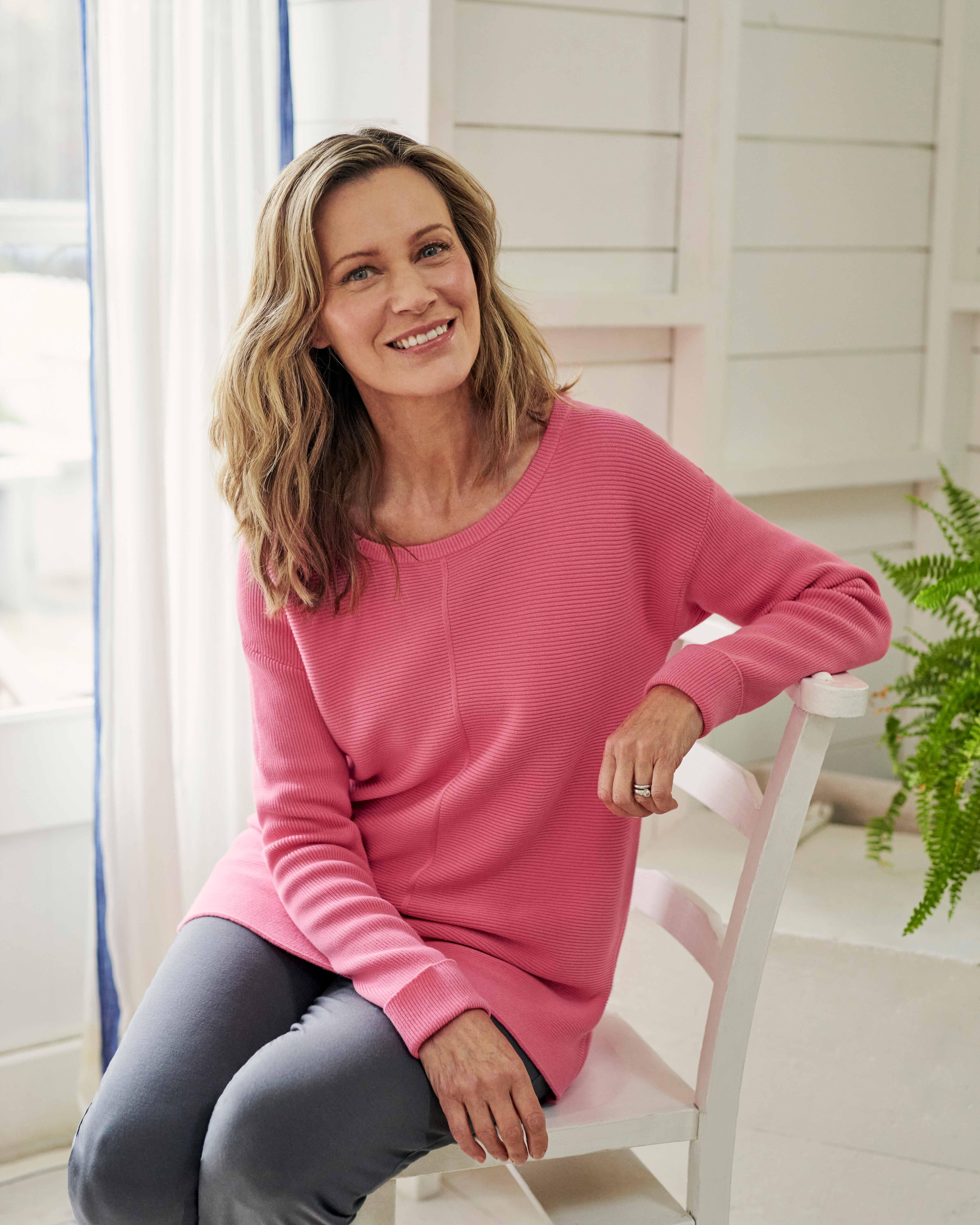 Cotton Textured Stitch Sweater