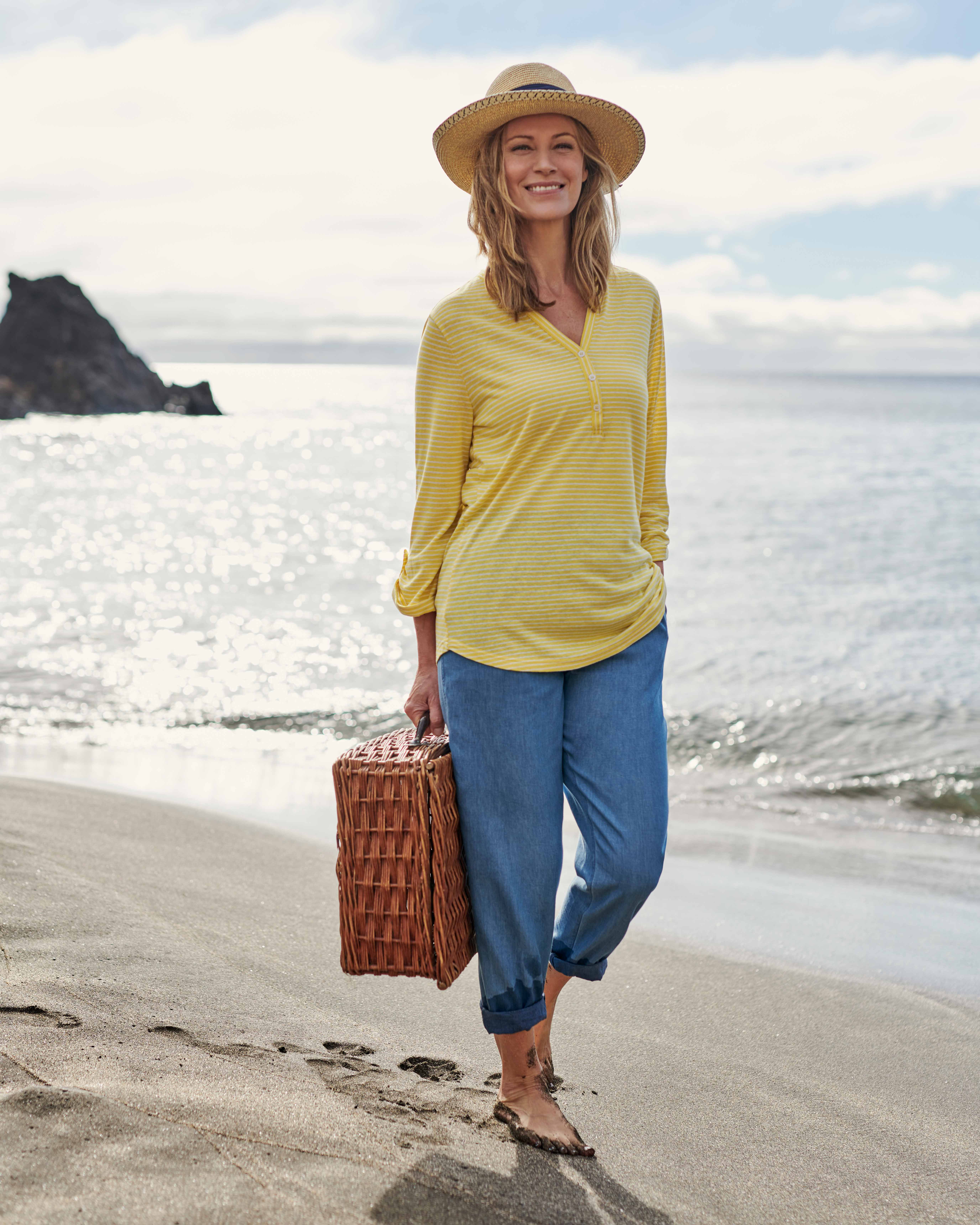 Relaxed Button Top