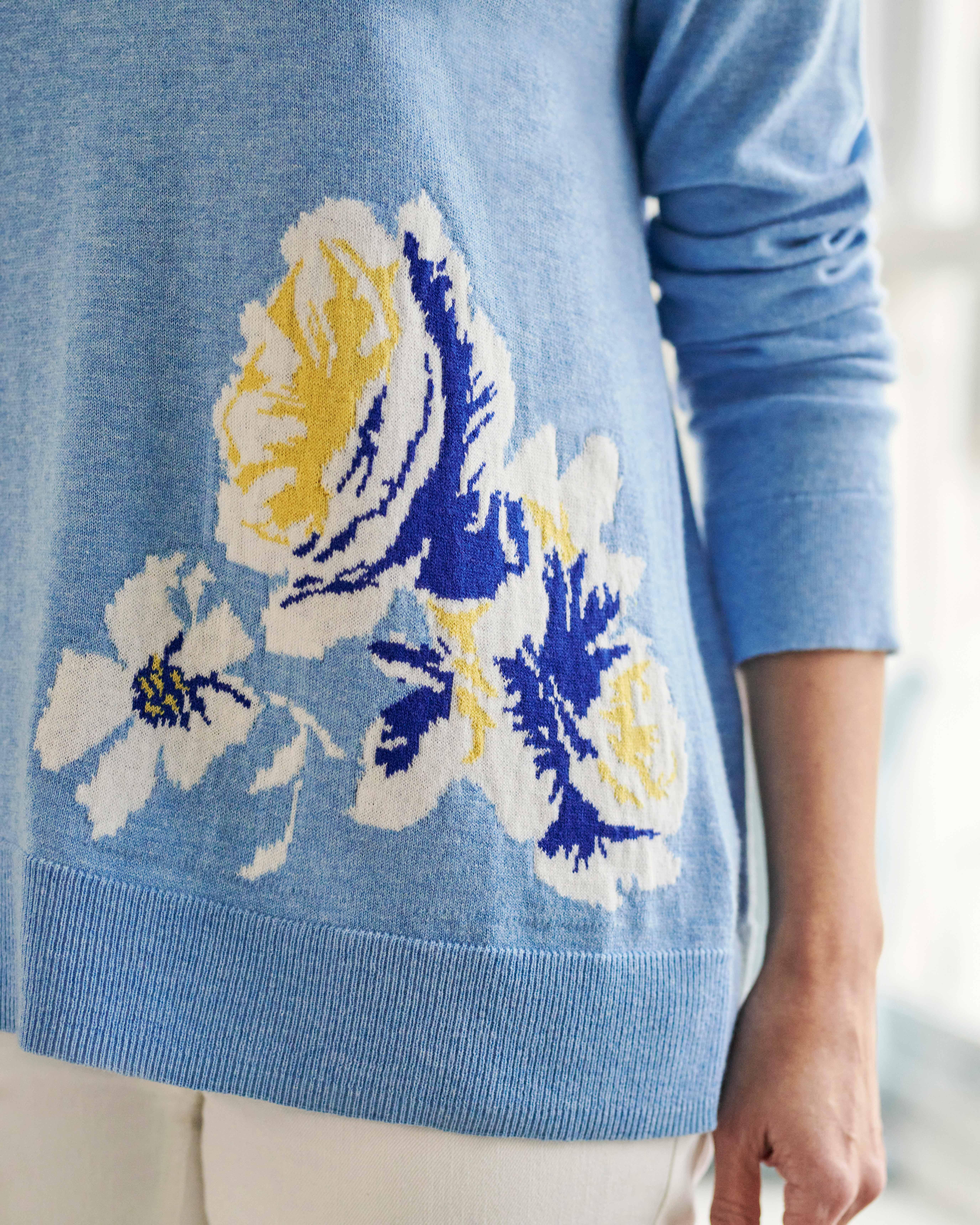Flower Detail Sweater