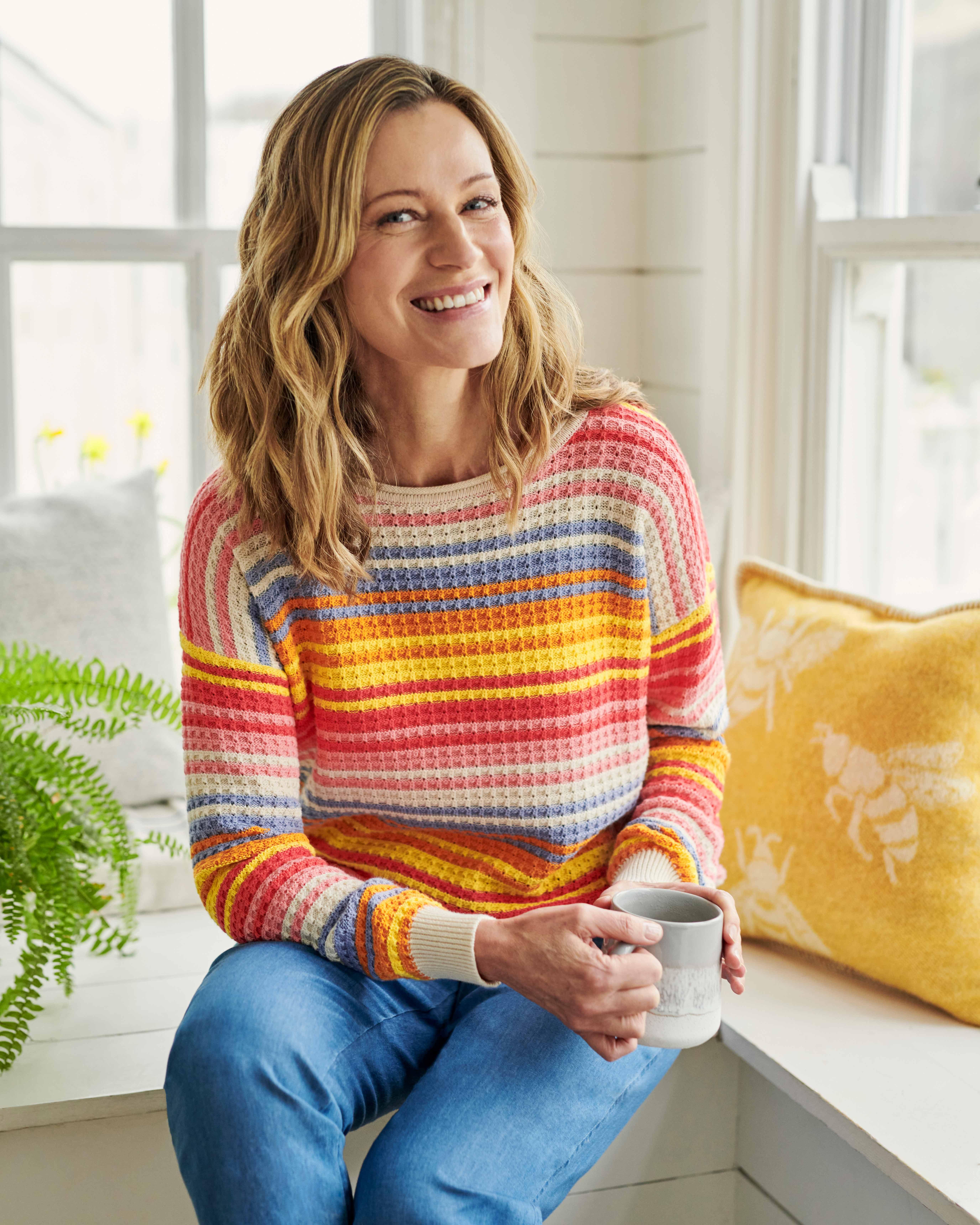 Organic Cotton Bright Stripe Jumper