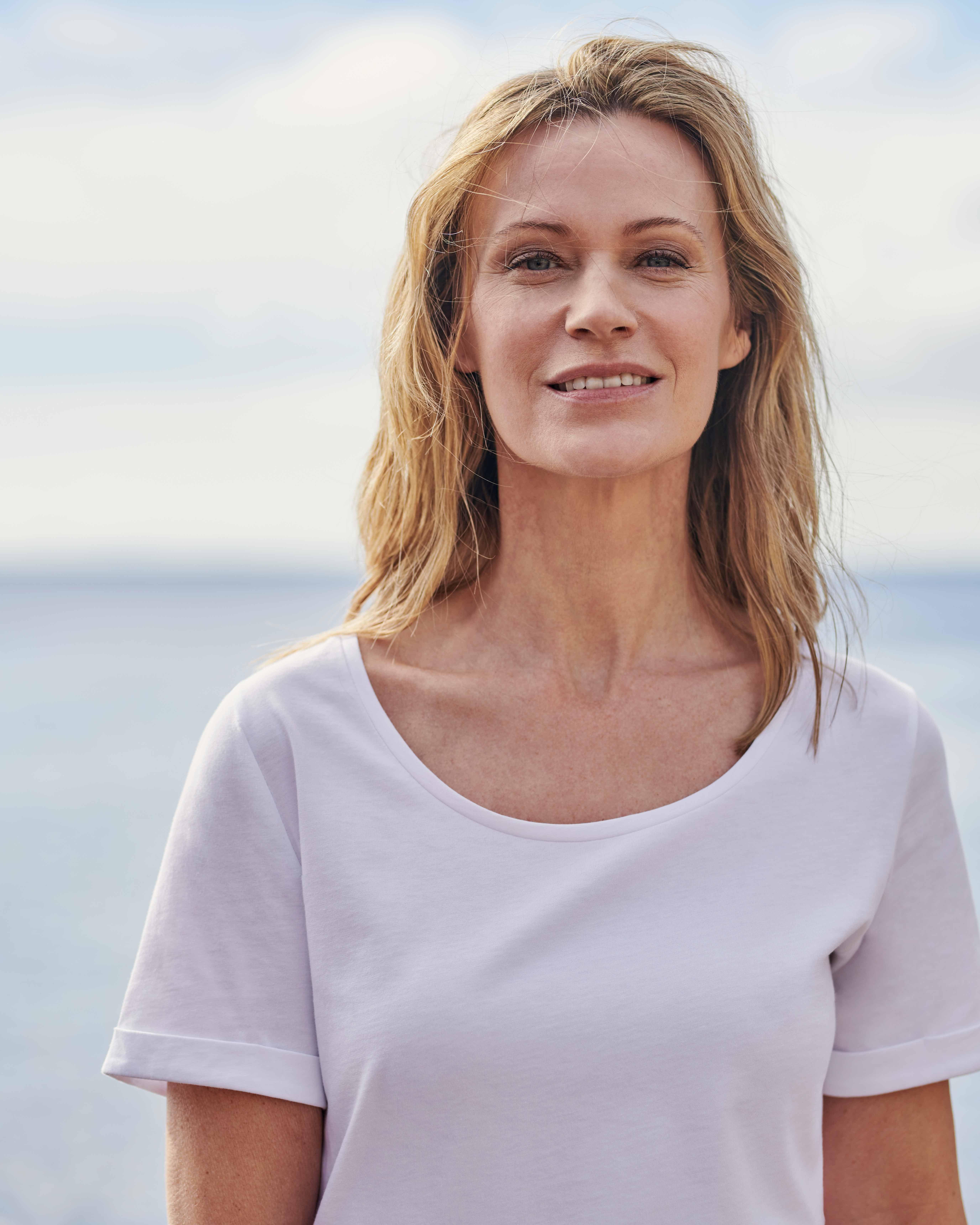 T-shirt à encolure dégagée - Femme - Pur coton Bio