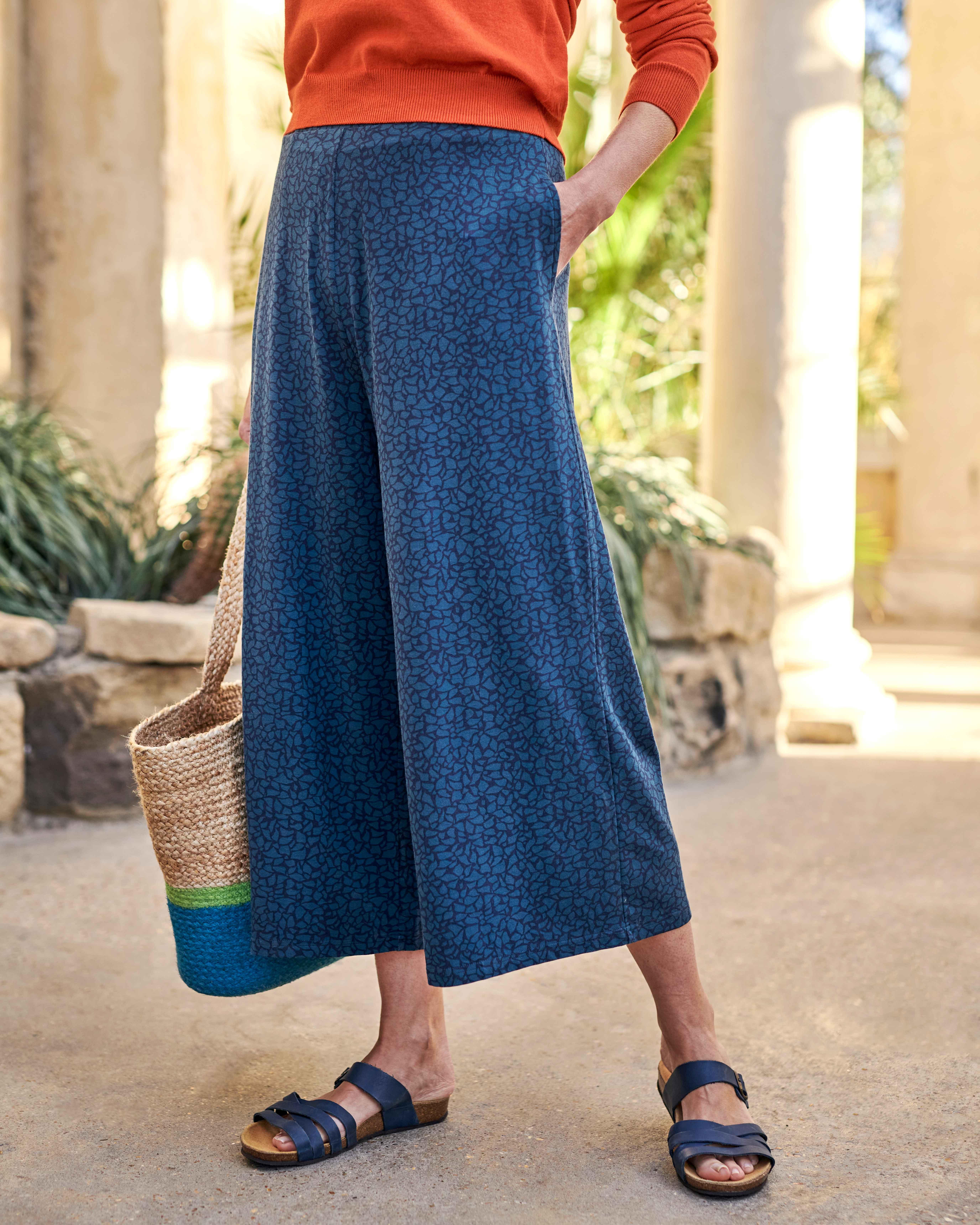 Jupe culotte imprimée - Femme - Jersey