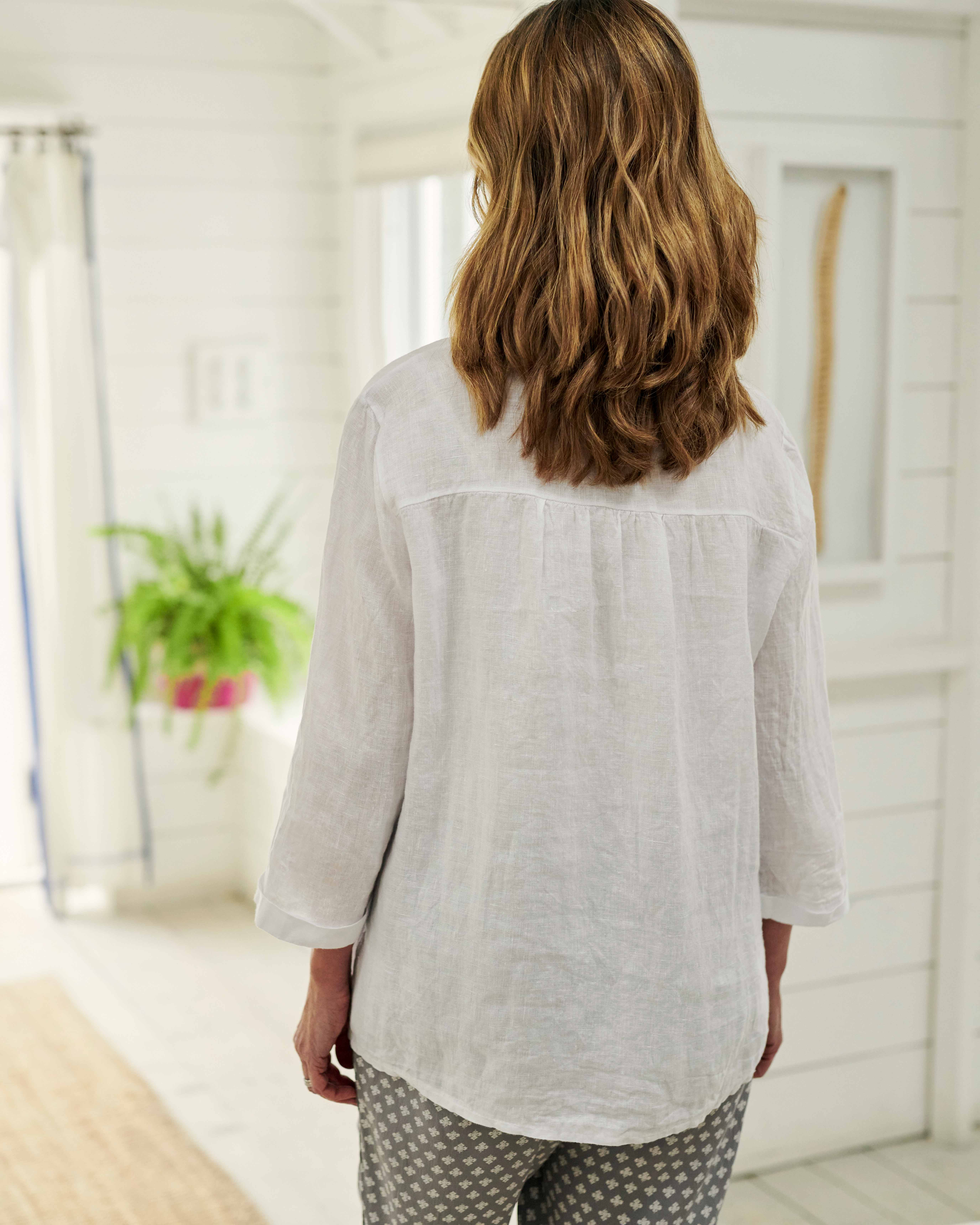 Loose Fit Linen Shirt