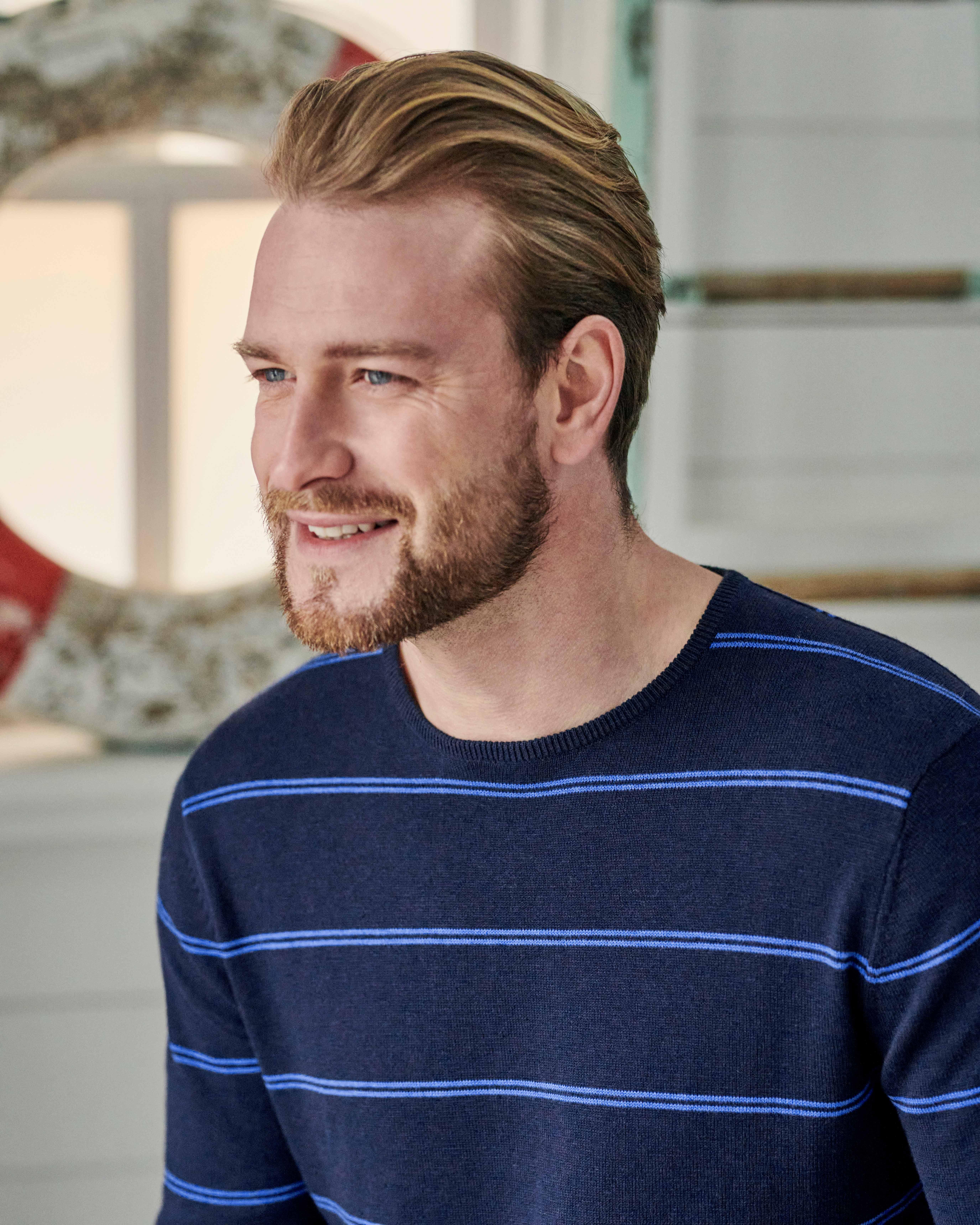 Organic Cotton Cashmere Stripe Sweater