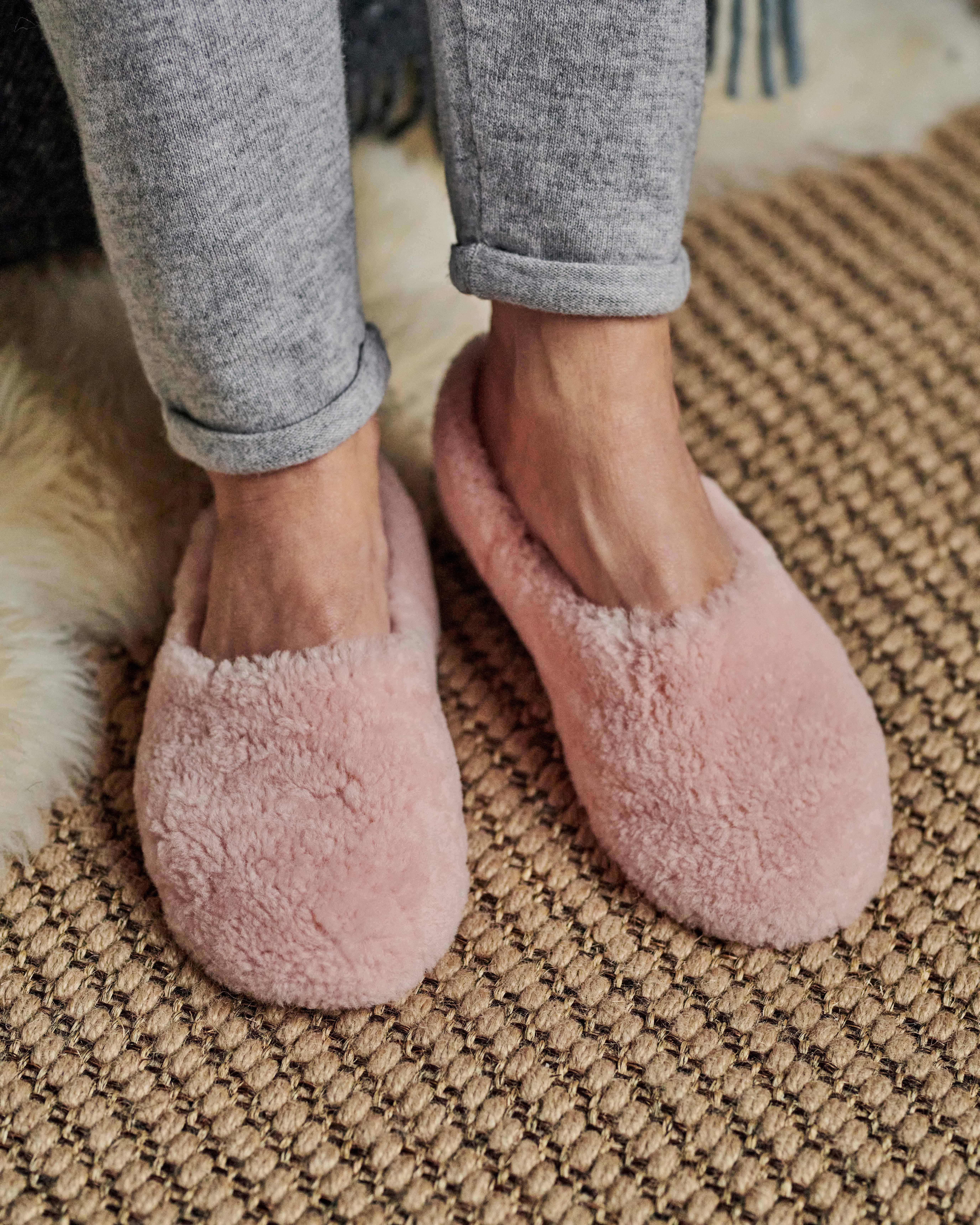 Womens Soft Sheepskin Ballerina