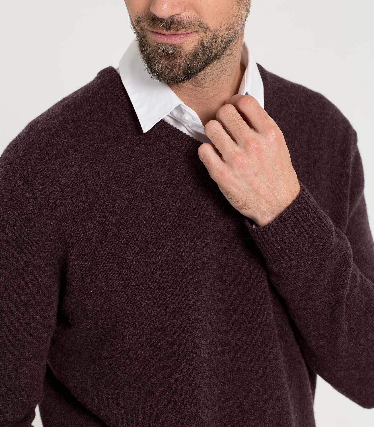 Lambswool V Neck Knitted Sweater