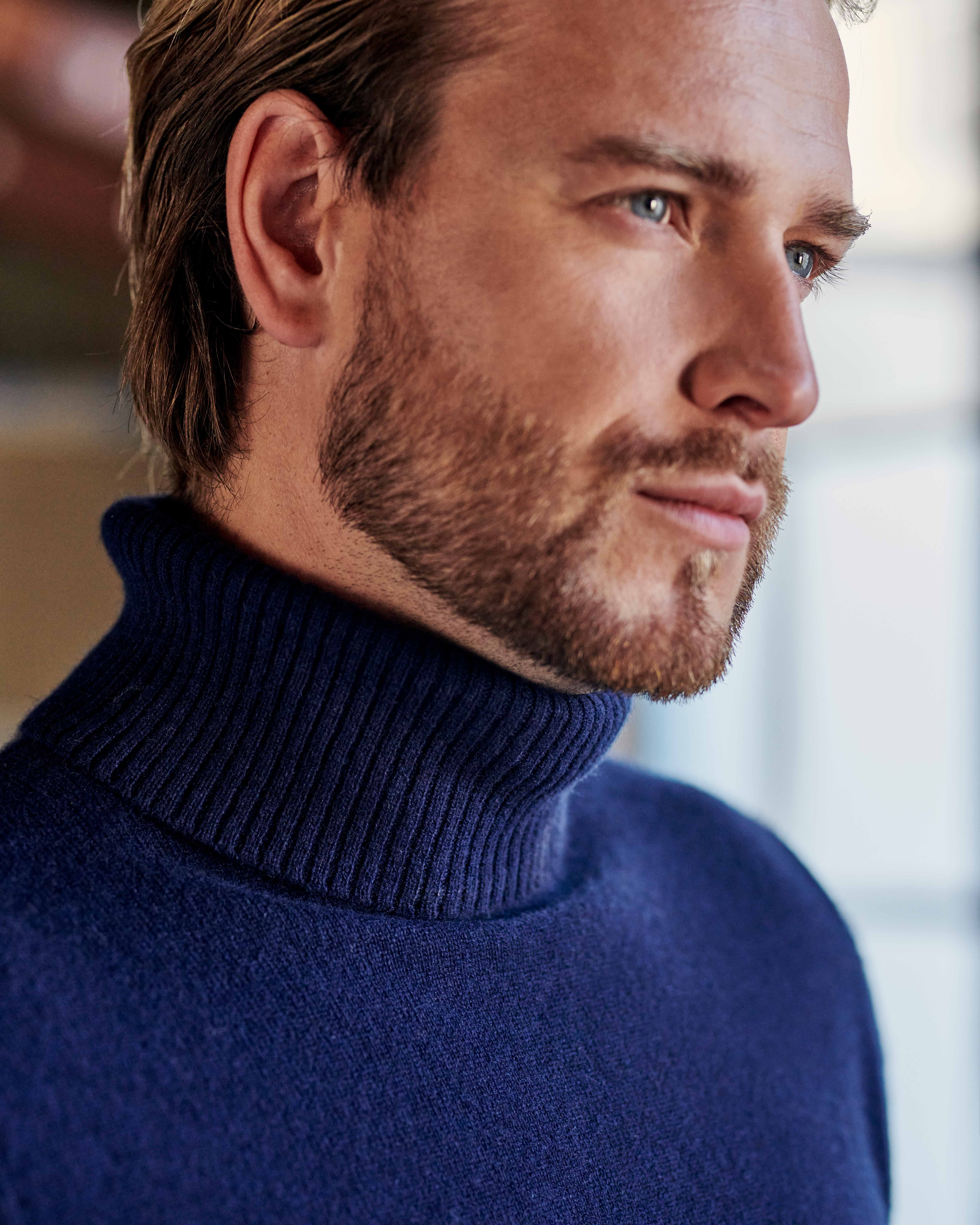 Pure Cashmere Polo Neck Jumper
