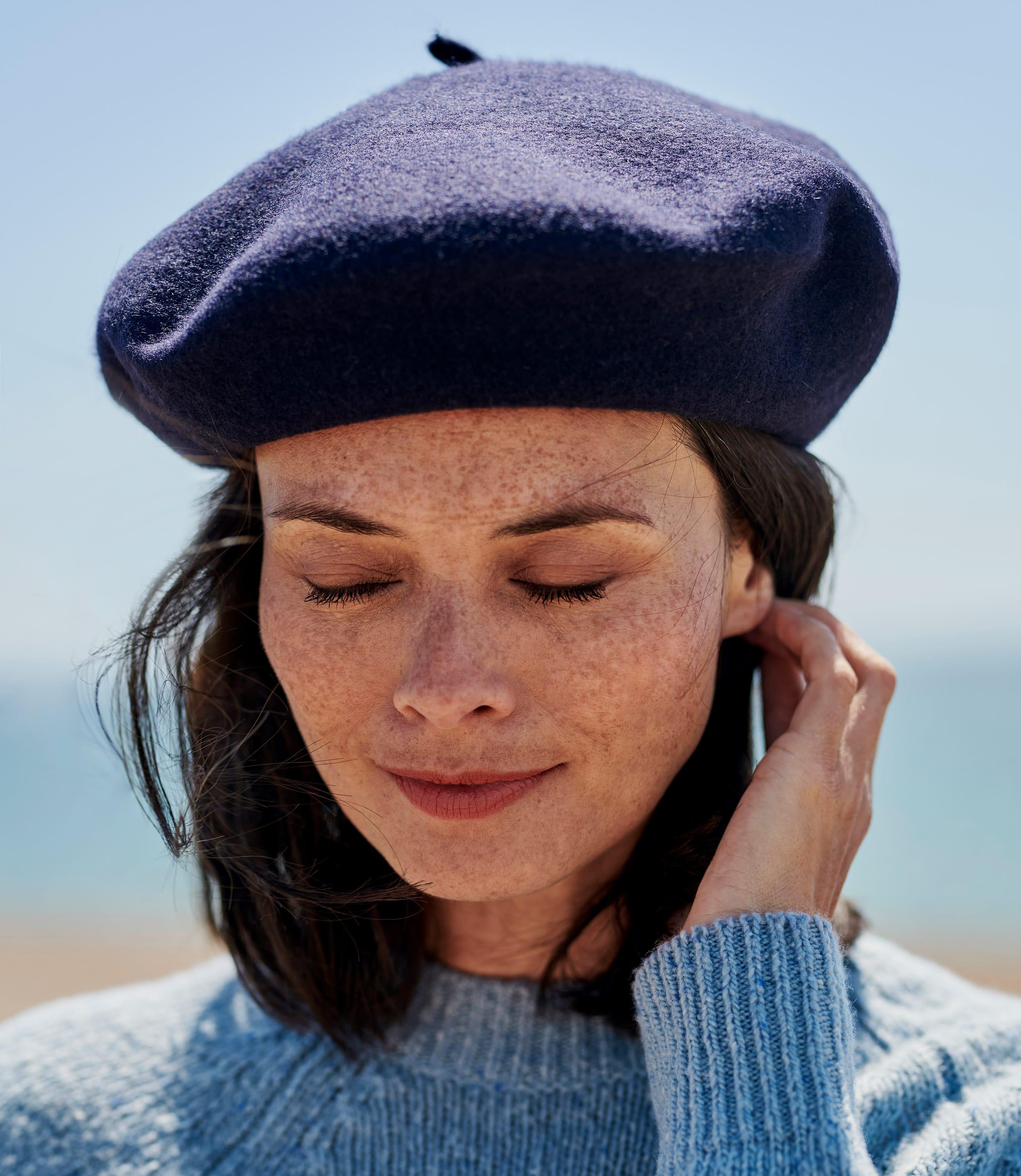 Klassische Baskenmütze aus Wolle
