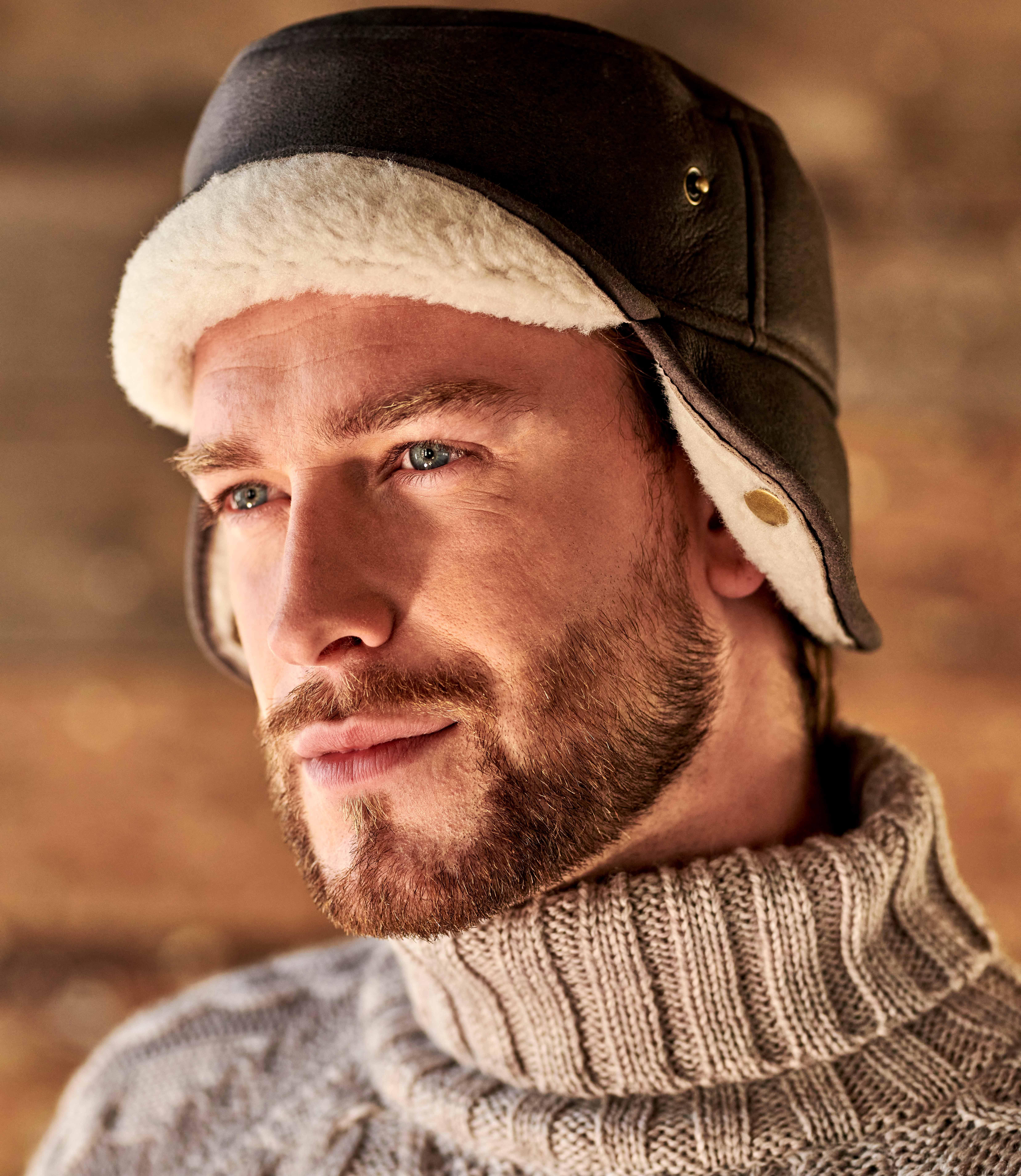 Mens Sheepskin Hunters Hat