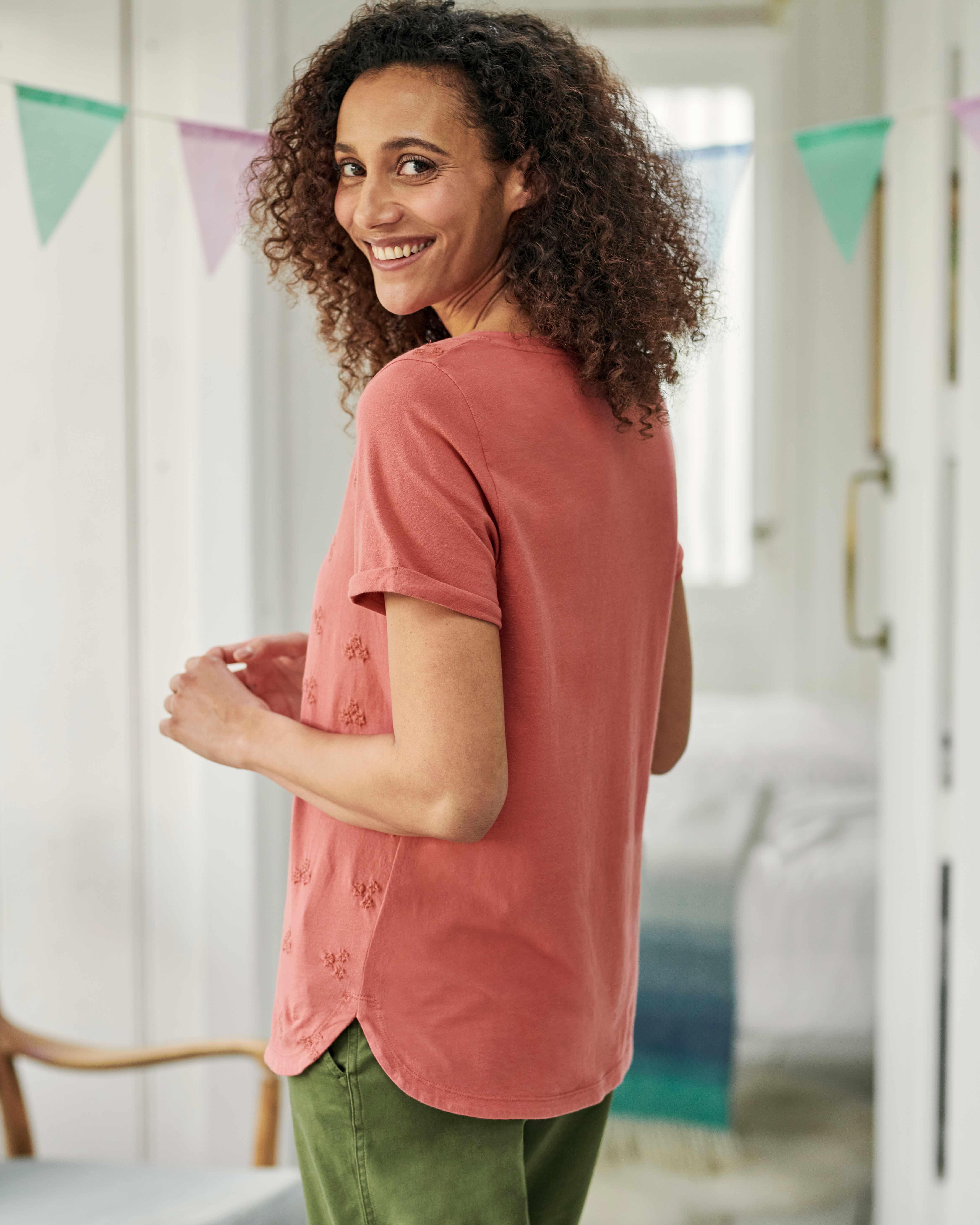T-shirt à fleurs brodées - Femme - Jersey