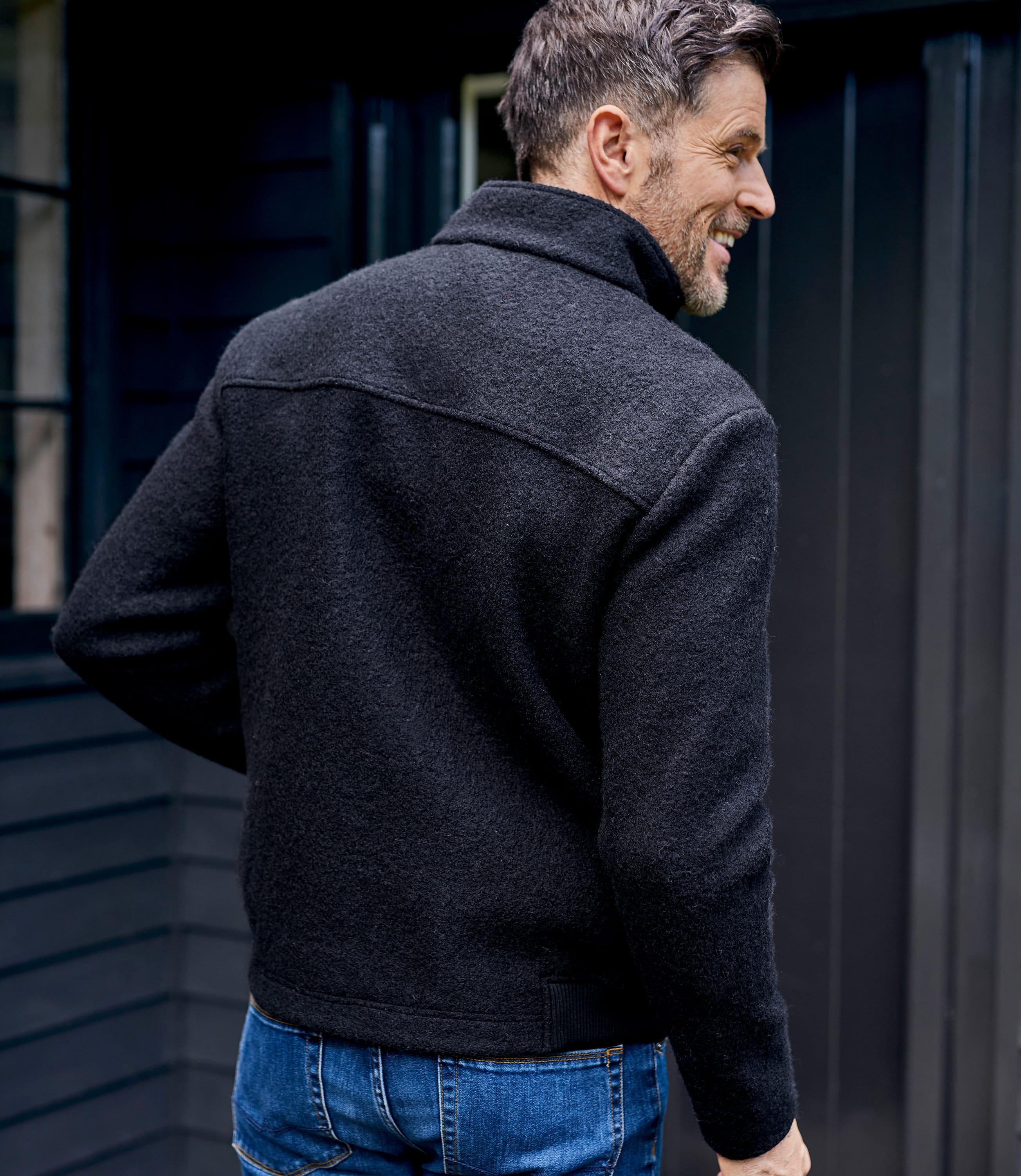 veste 100 laine bouillie homme