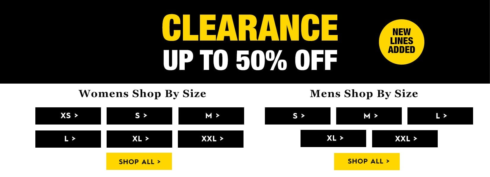 Clearance New Lines Added