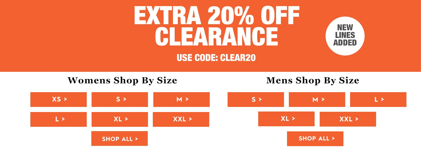 New Lines Added - Extra 20% off Sale